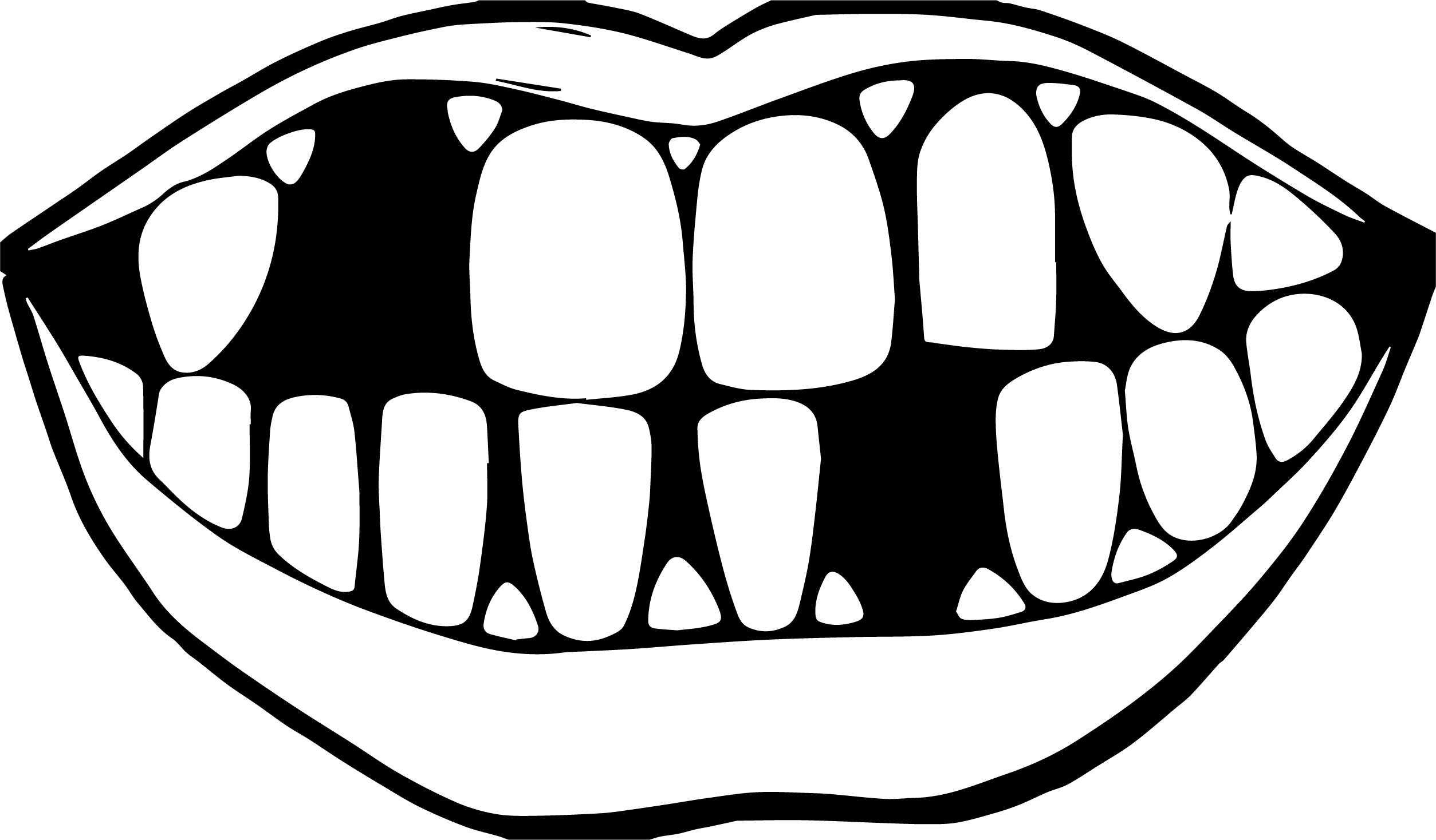 Tooth Paint On Coloring Pages