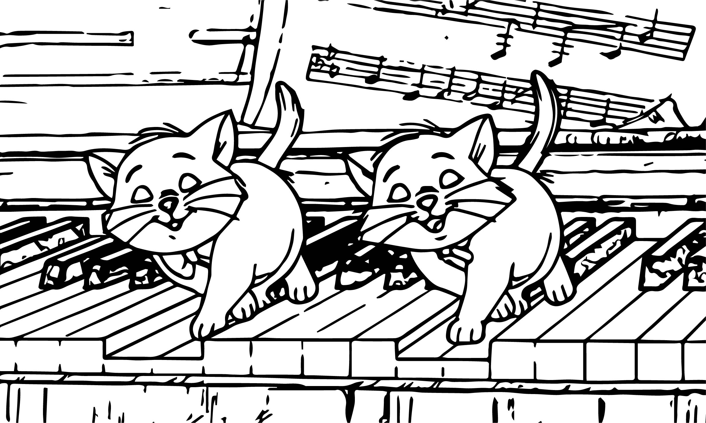 Playing Keyboard Coloring Pages