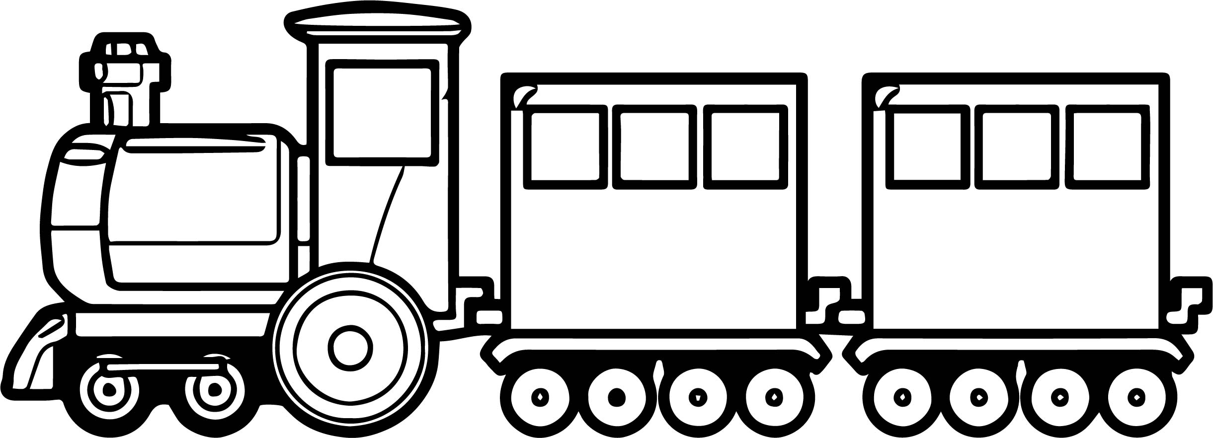 Train Old Toy Coloring Page