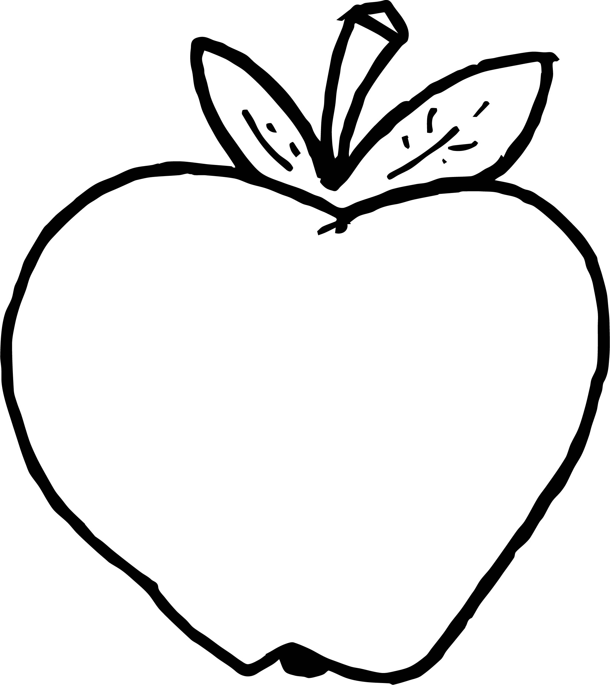 Apple Image Free Food Coloring Page