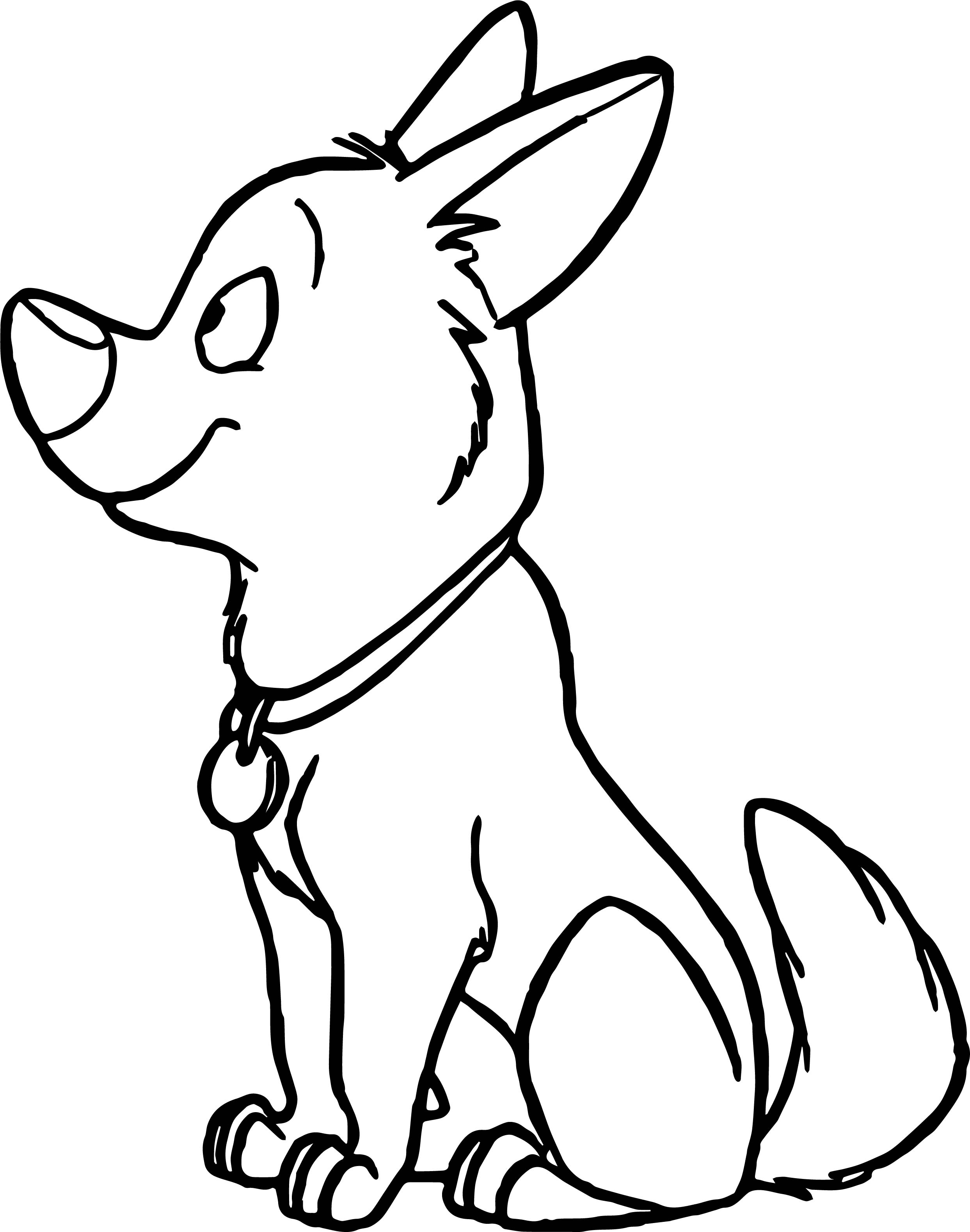 Bolt Dog Wait Coloring Pages
