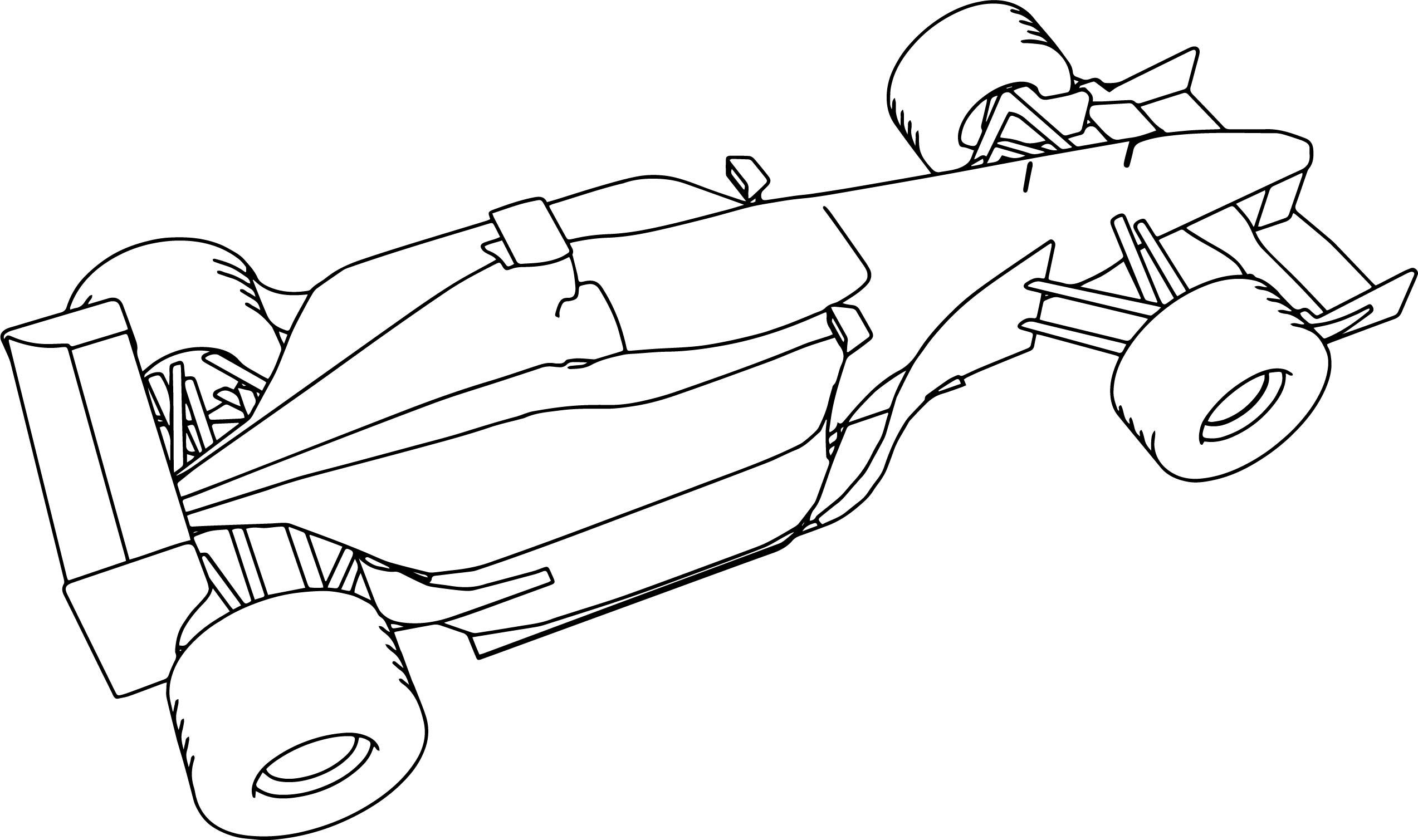 F1 Sauber Formula Sport Car Coloring Page