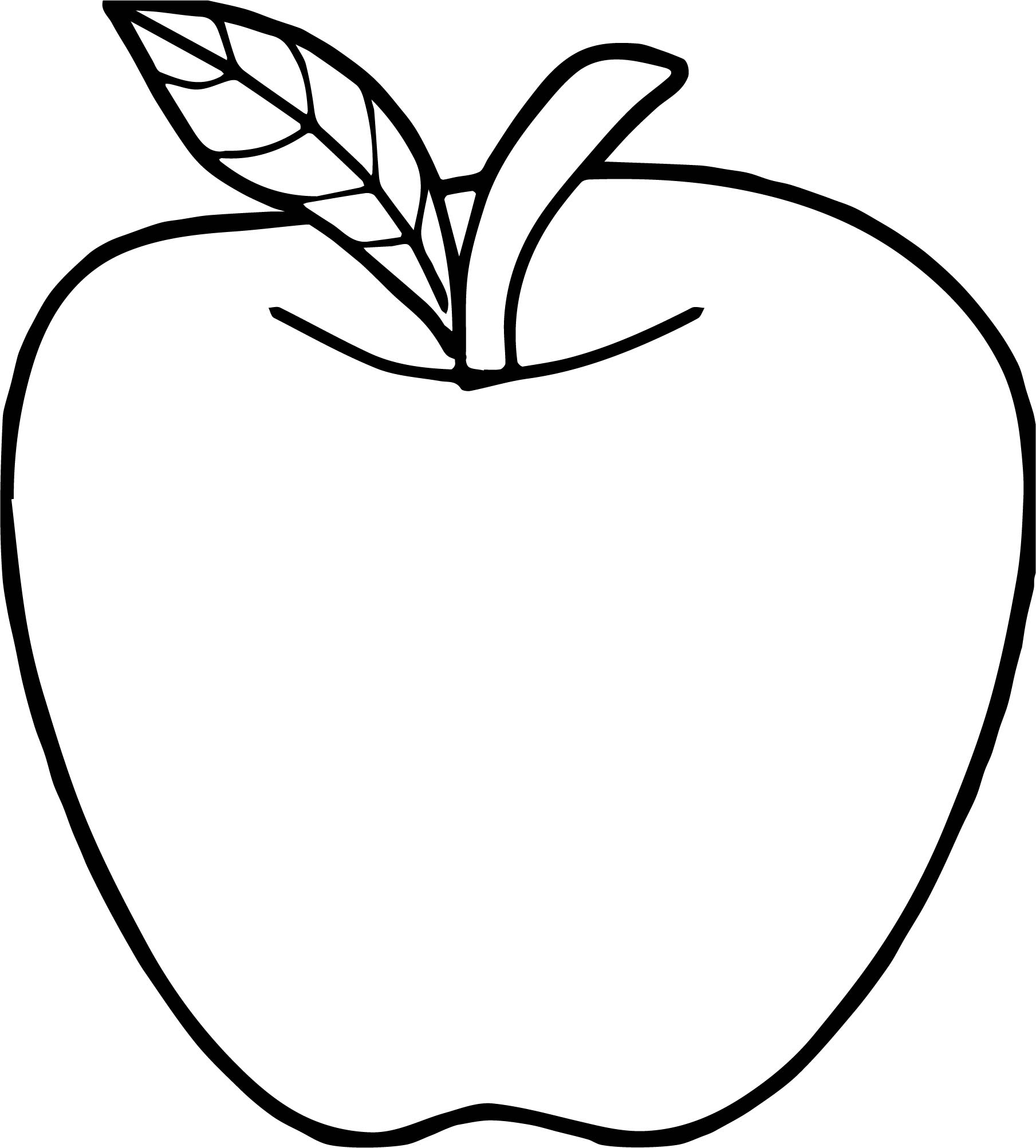 Good Apple Coloring Page