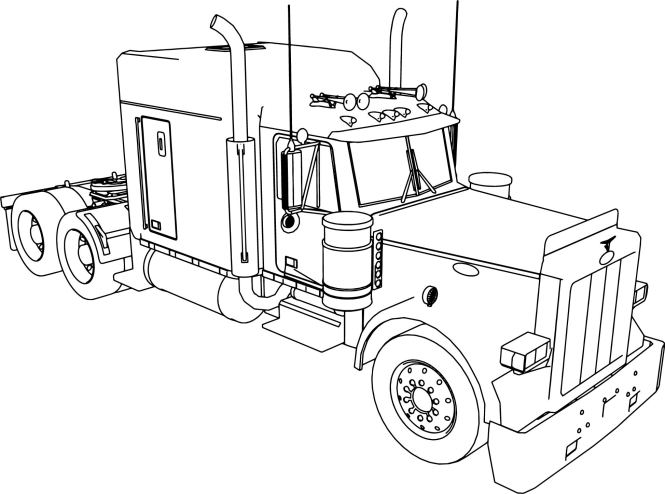 peterbilt coloring pages | Coloring Page for kids