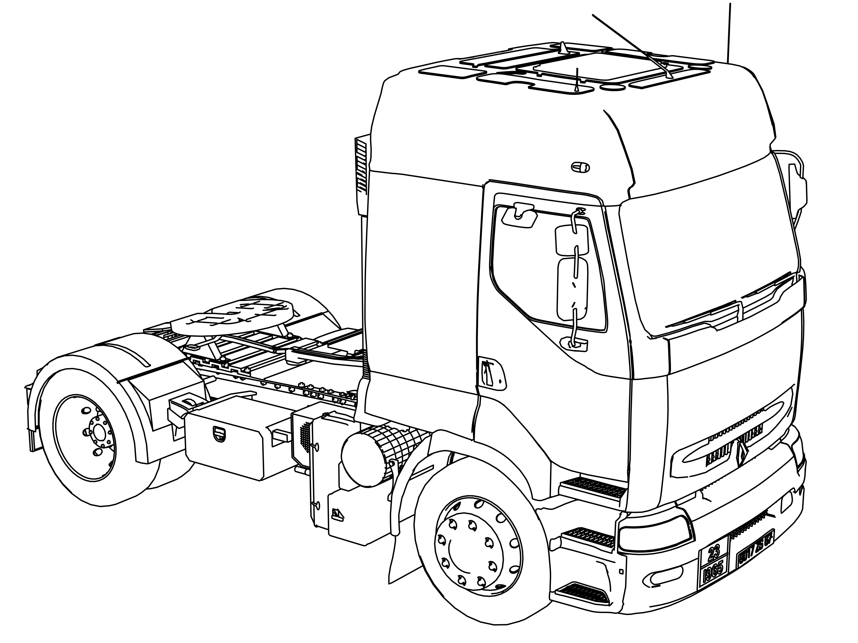 Volvo Truck Coloring Pages
