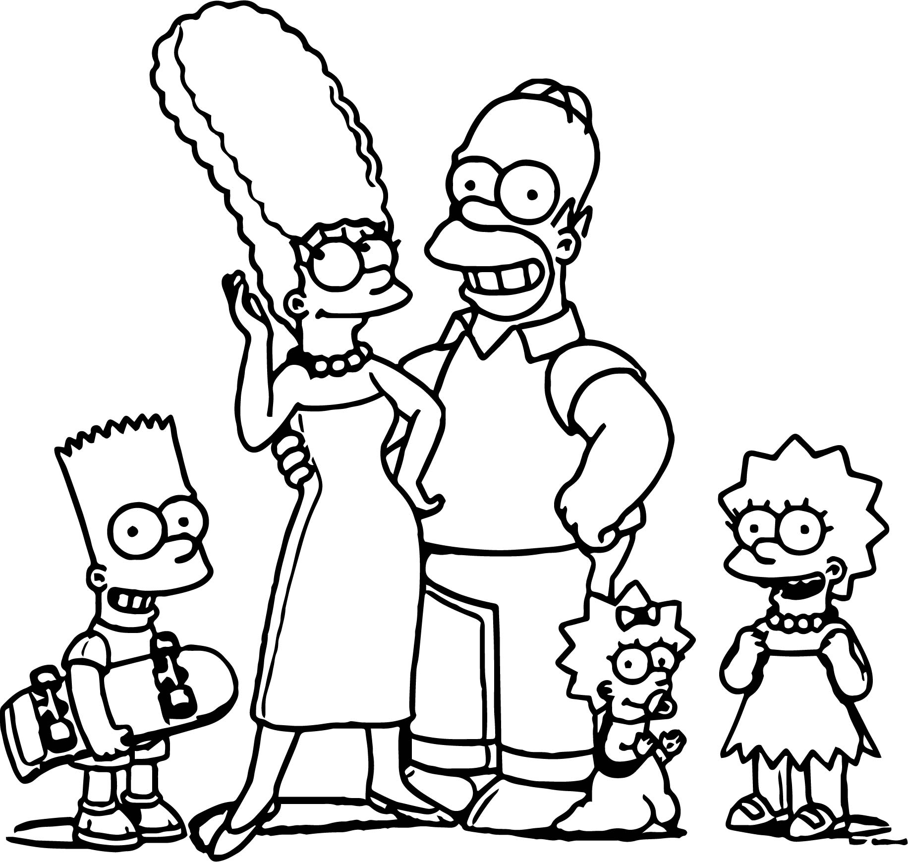 Magnificent The Simpsons Family Coloring harry potter 7 book ...