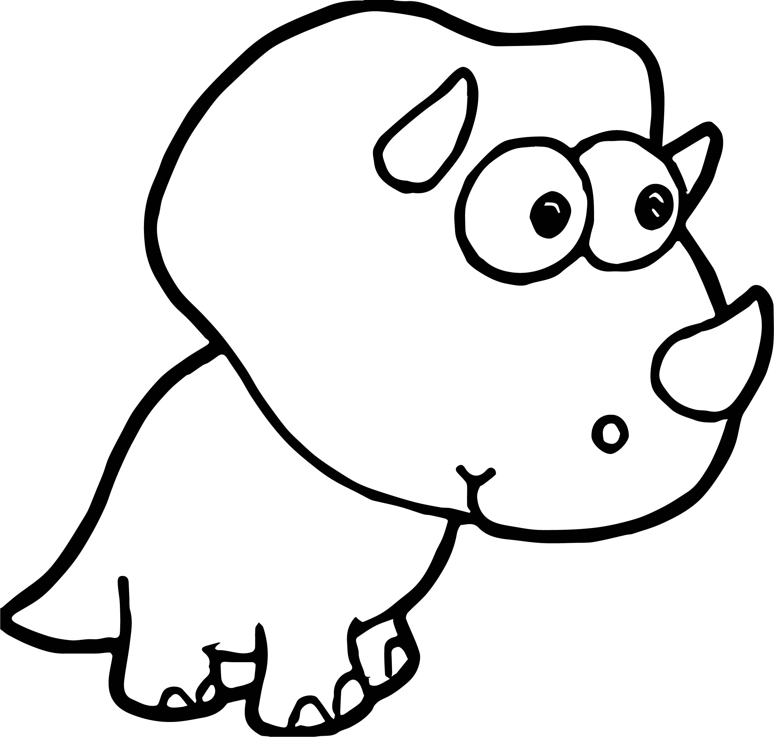 Small Baby Dinosaur Coloring Page