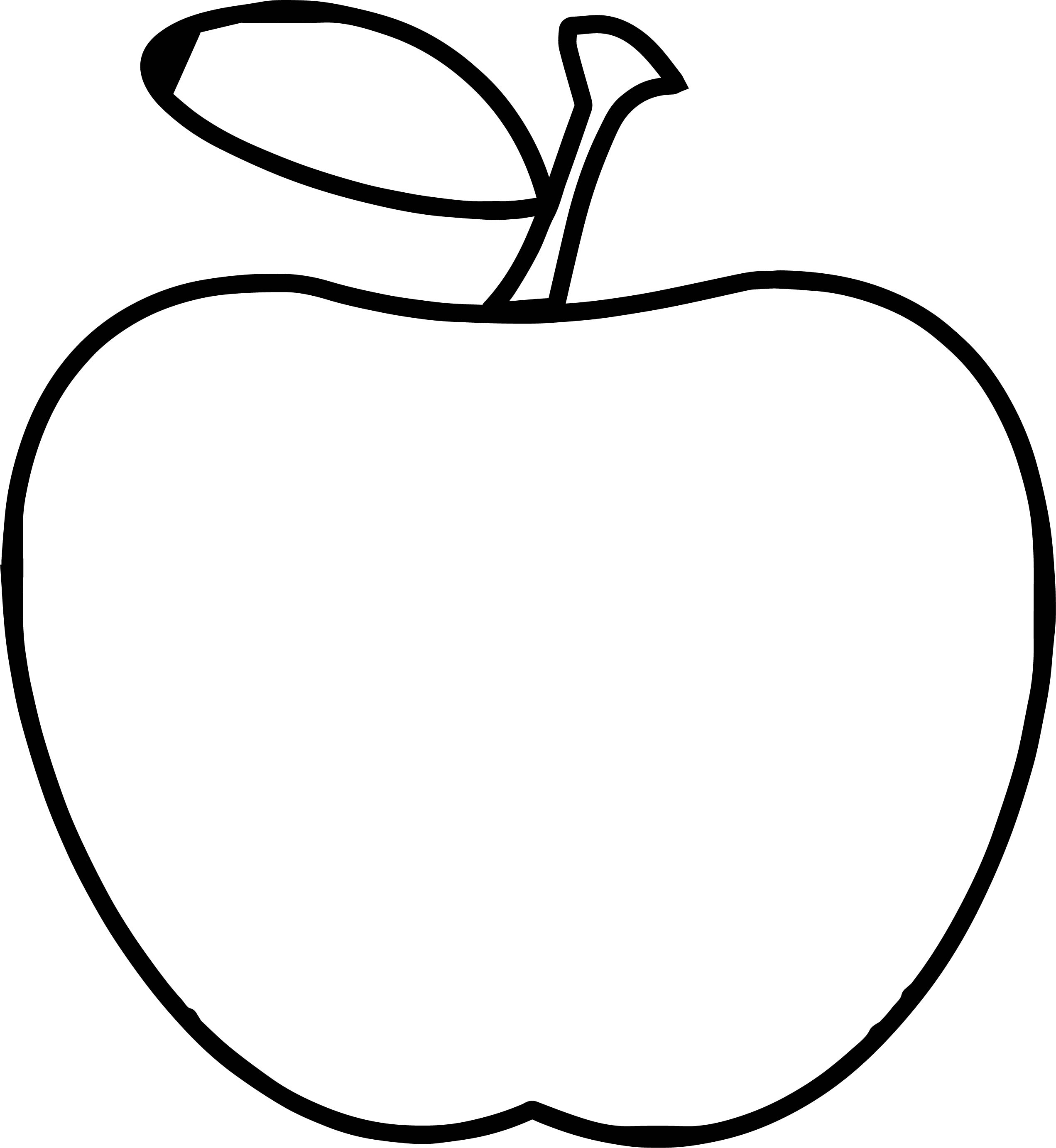 Teacher Apple Apple Simple Coloring Page