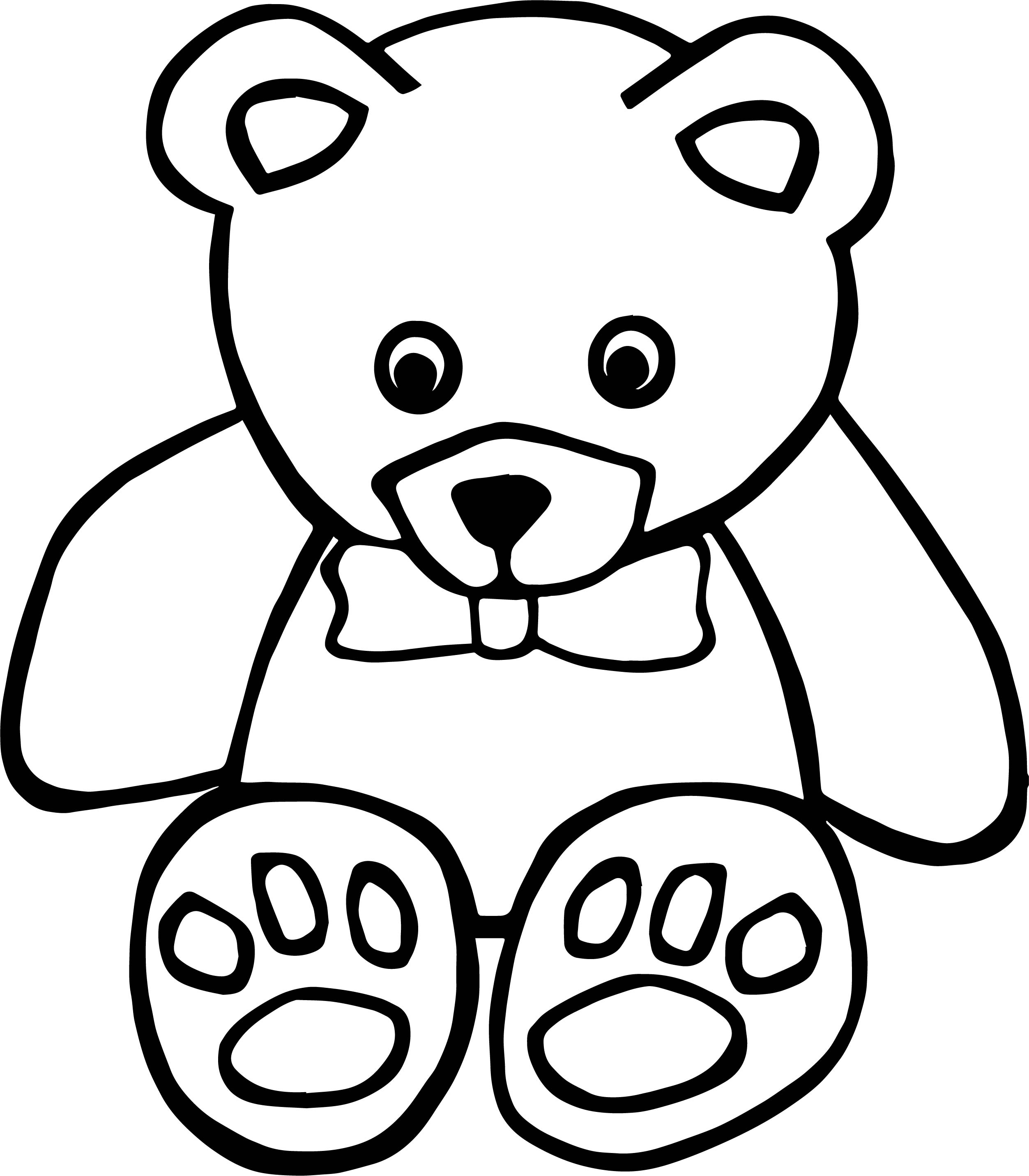 Thinking Toy Bear Coloring Page