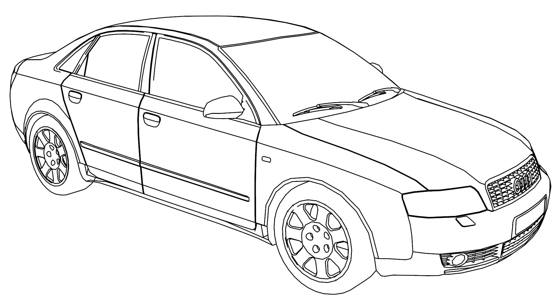 Audi A4 Engine Diagram Sketch Coloring Page