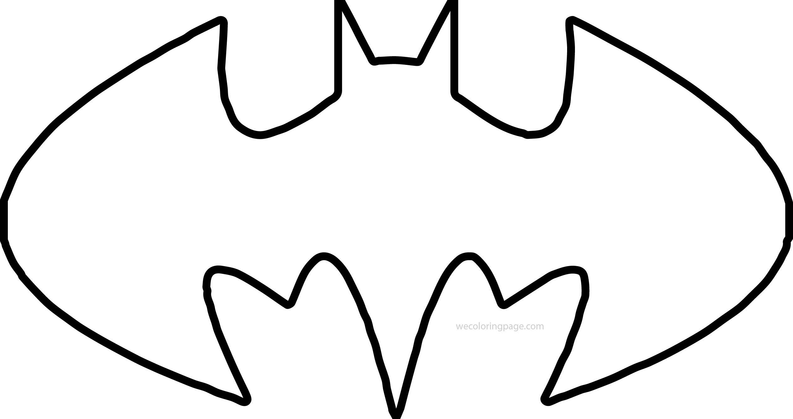 Batman Shape Outline Coloring Page