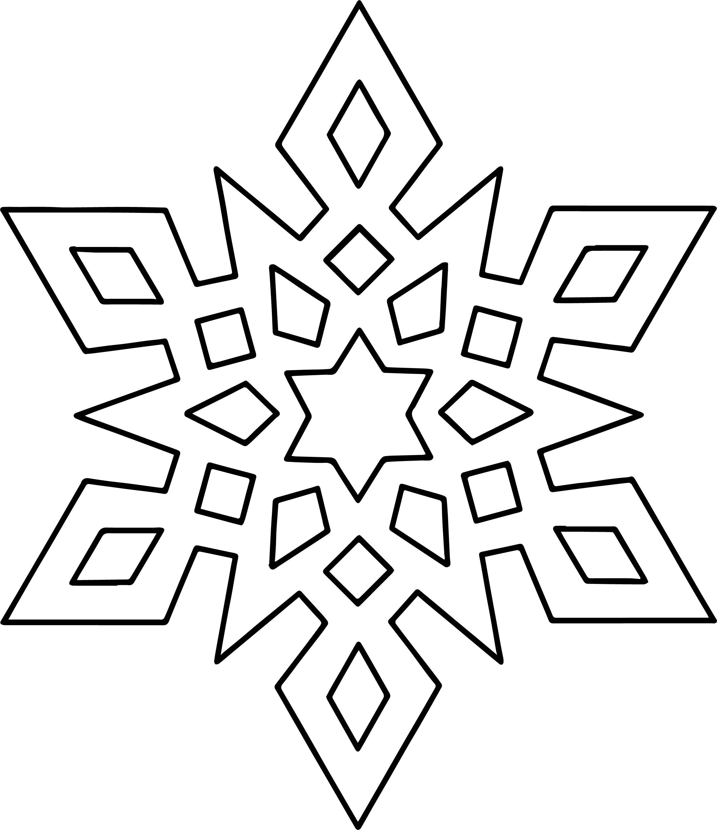 Crystal Snowflake Coloring Page Wecoloringpage