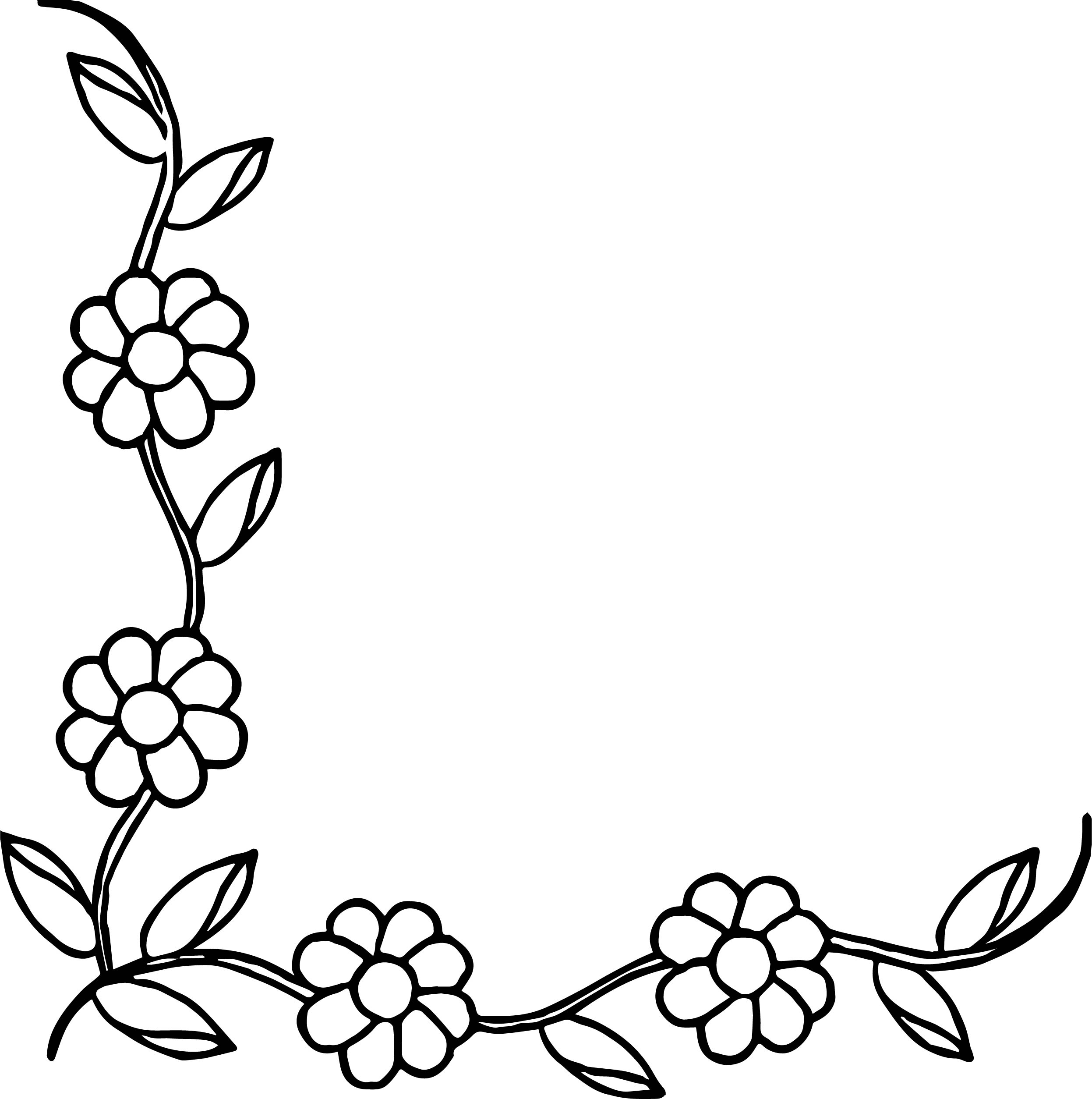 Flower Border Coloring Page