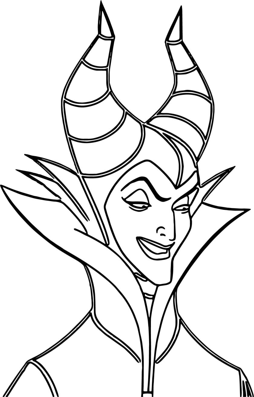 maleficent evil cartoon coloring page  wecoloringpage