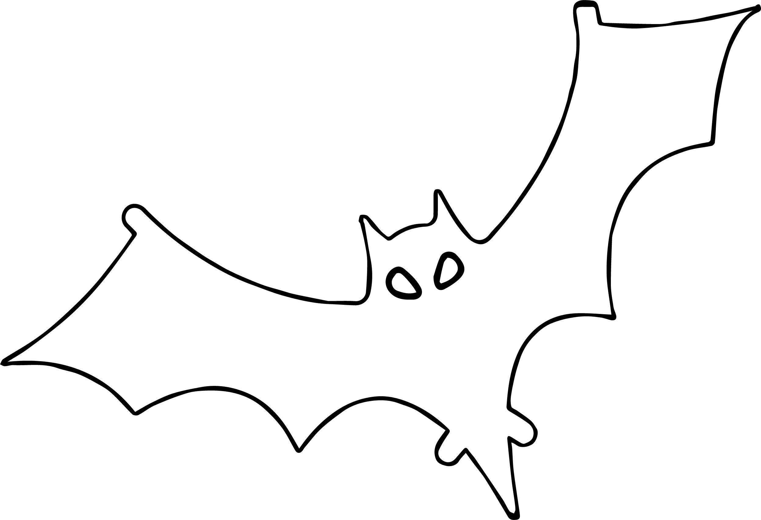 Outline Bat Coloring Page