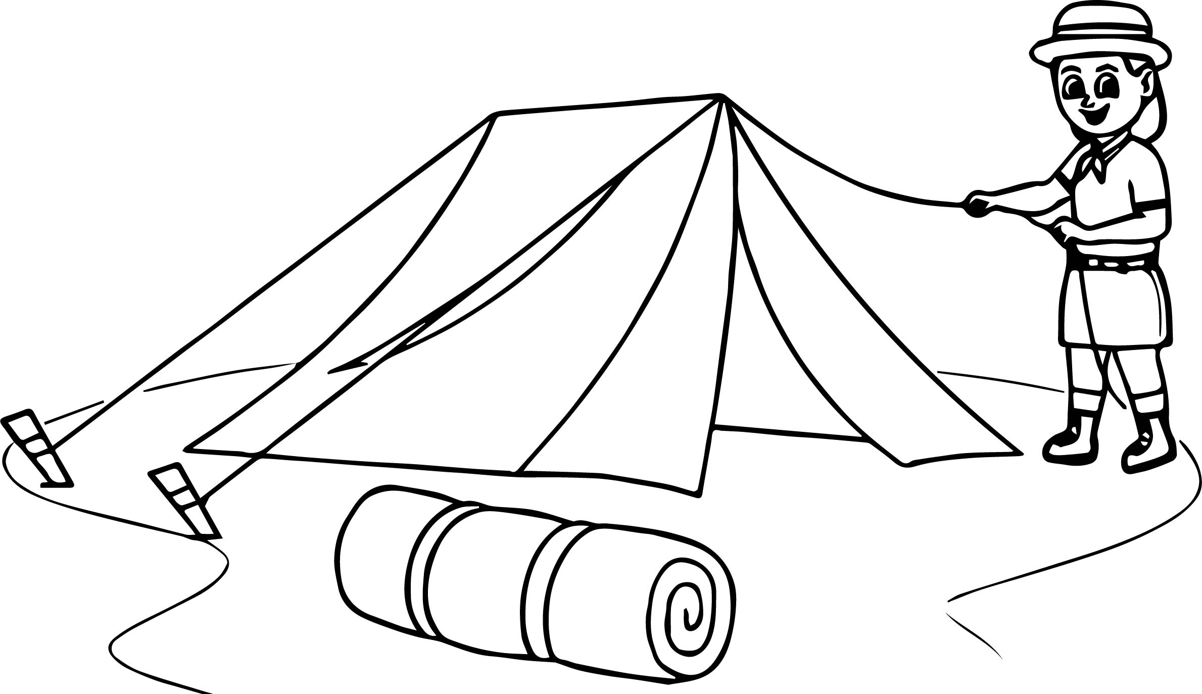 Boy Scout Camping Coloring Page