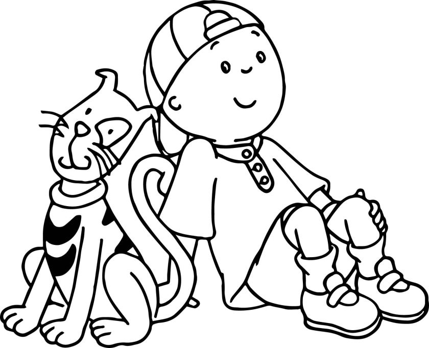 caillou coloring pages  learny kids