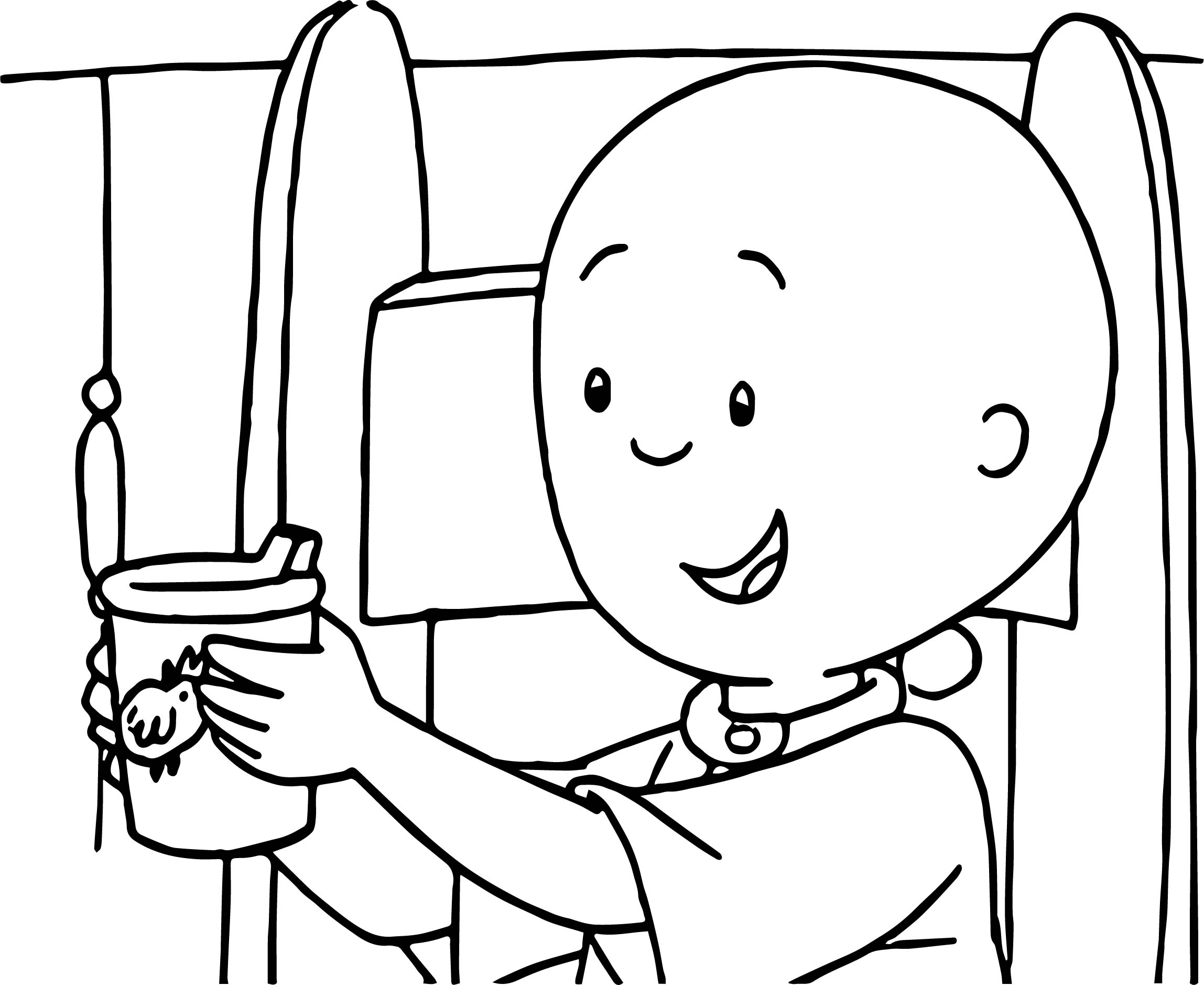 Caillou Cup Coloring Page