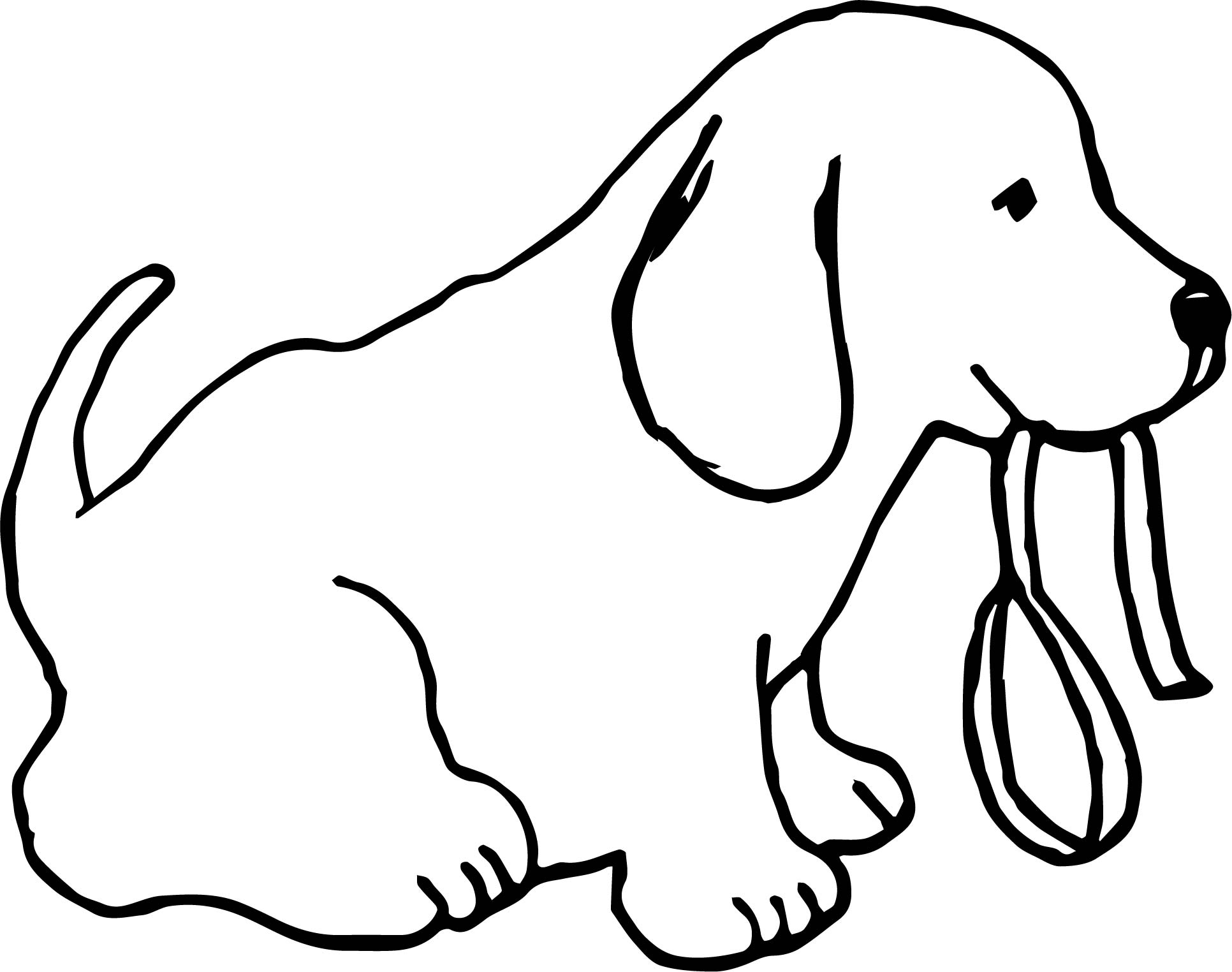 Funny Dogs Cute Dog With Leash Color Puppy Dog Coloring Page