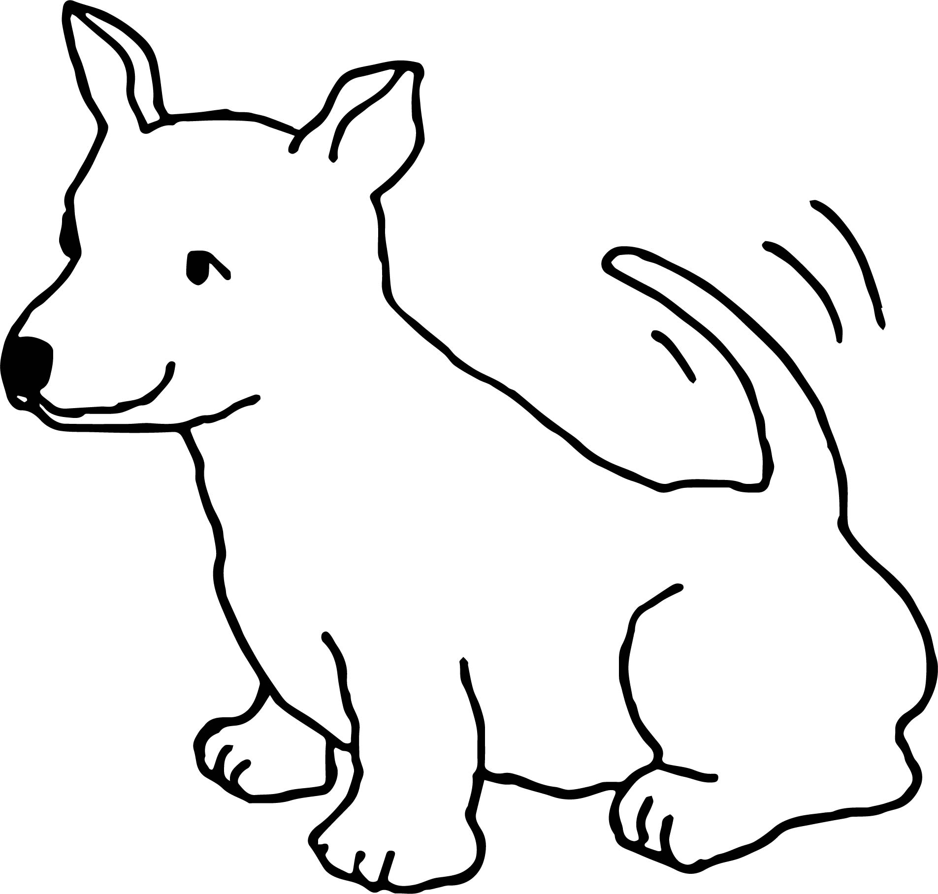 Funny Dogs Happy Cute Dog Color Puppy Dog Coloring Page