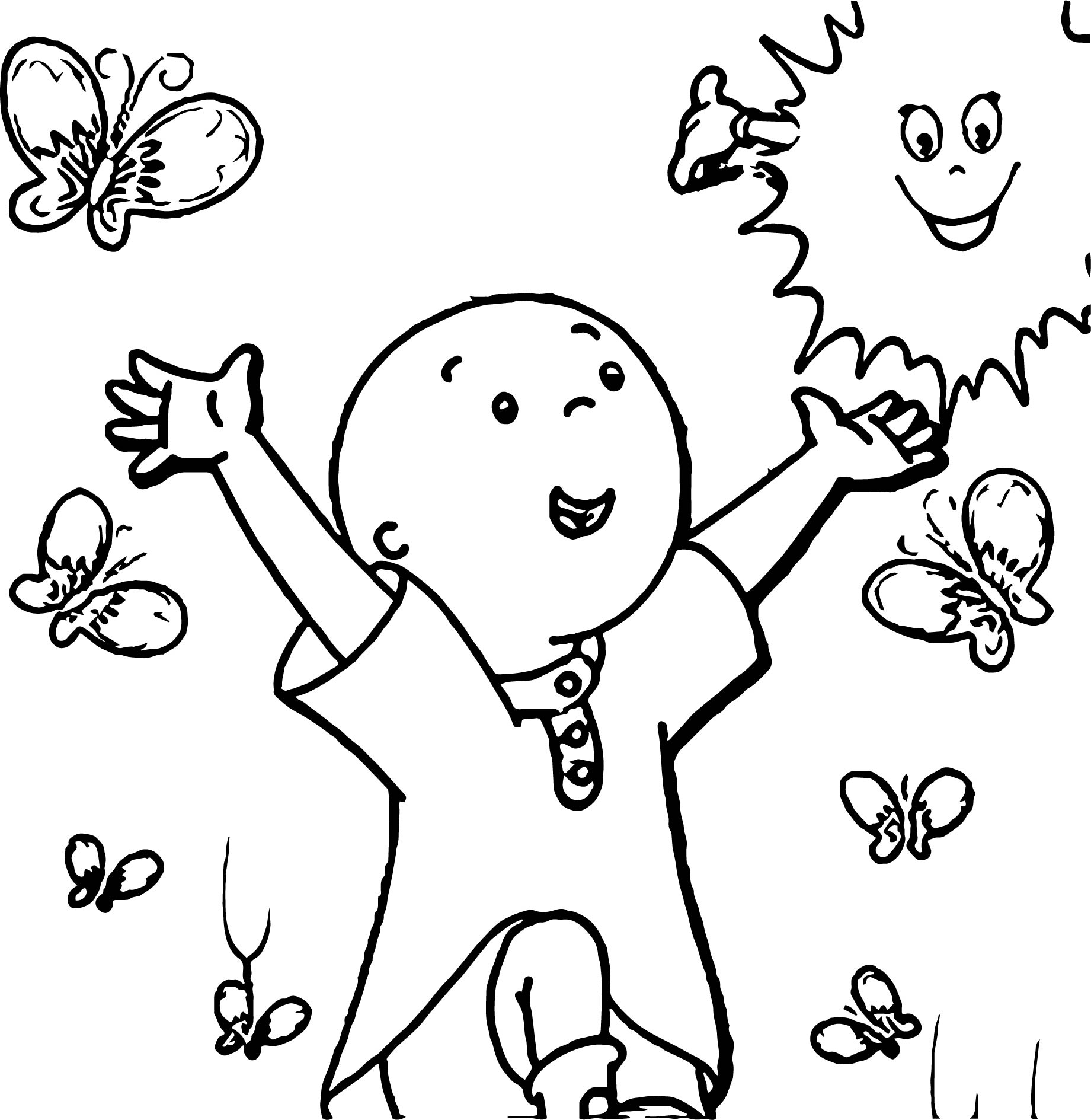 Show Poster Caillou Coloring Page