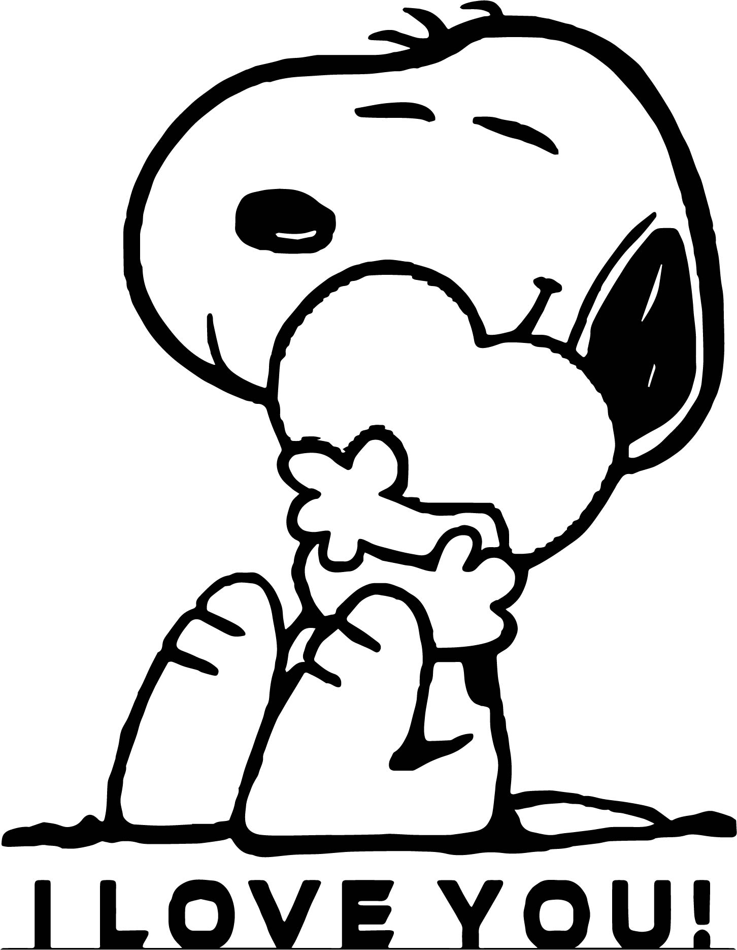 Snoopy i love you coloring page wecoloringpagecom, love you coloring pages