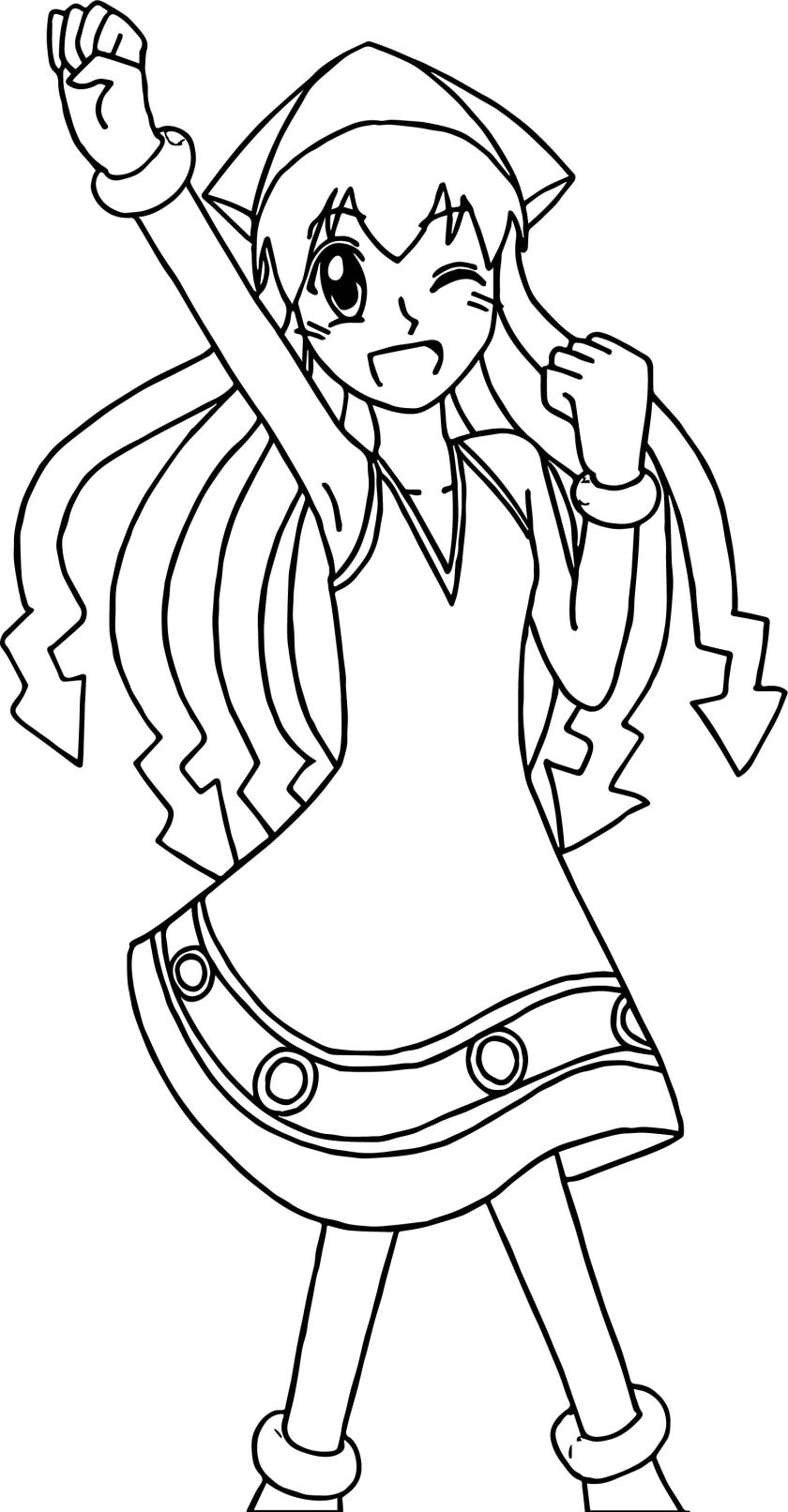 squid girl win coloring page  wecoloringpage