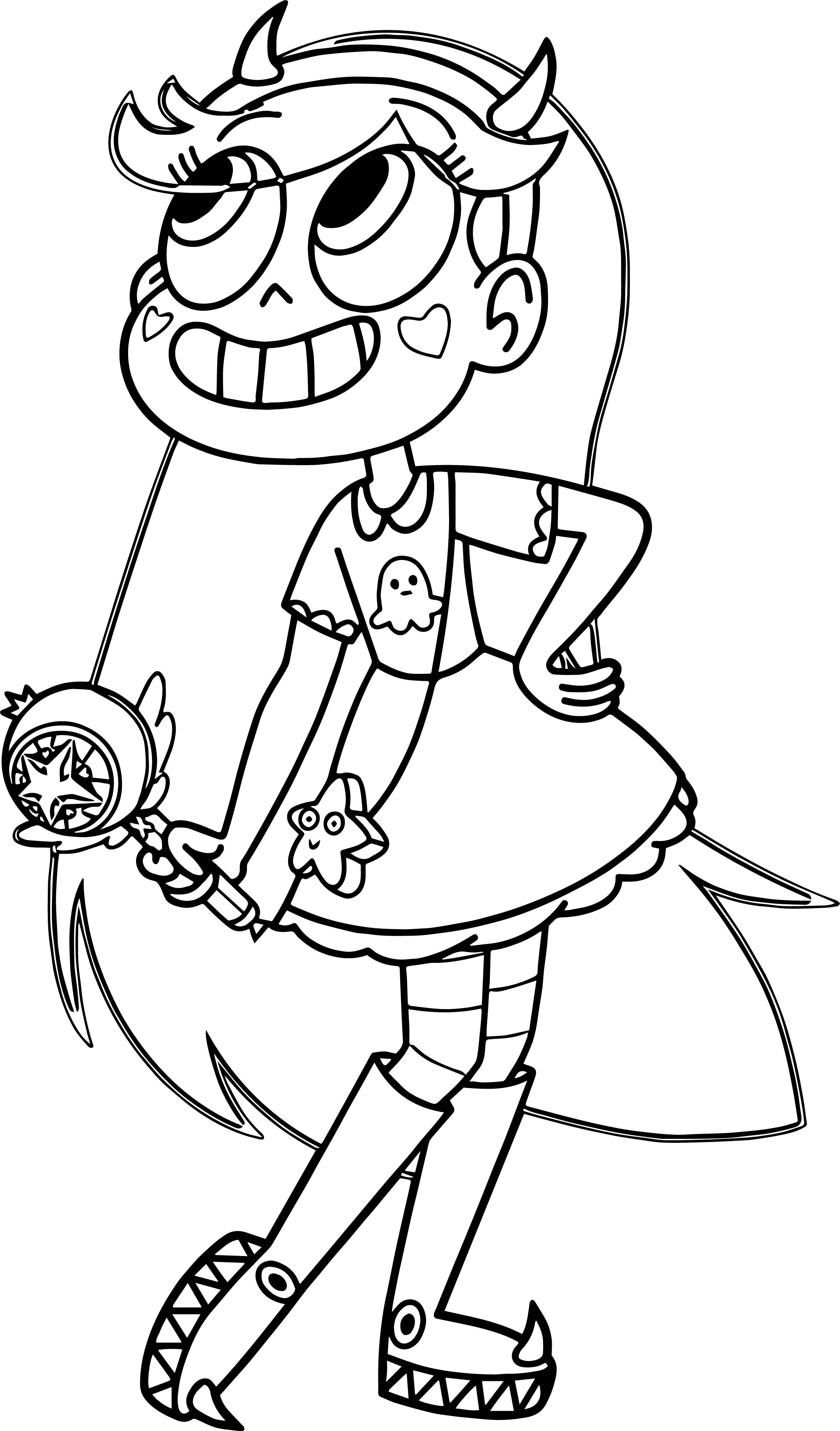 Star Vs The Forces Of Evil Butterfly Coloring Page