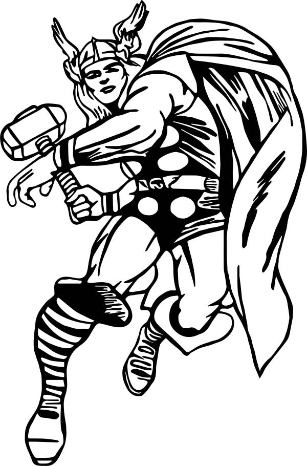 thor coloring page # 38