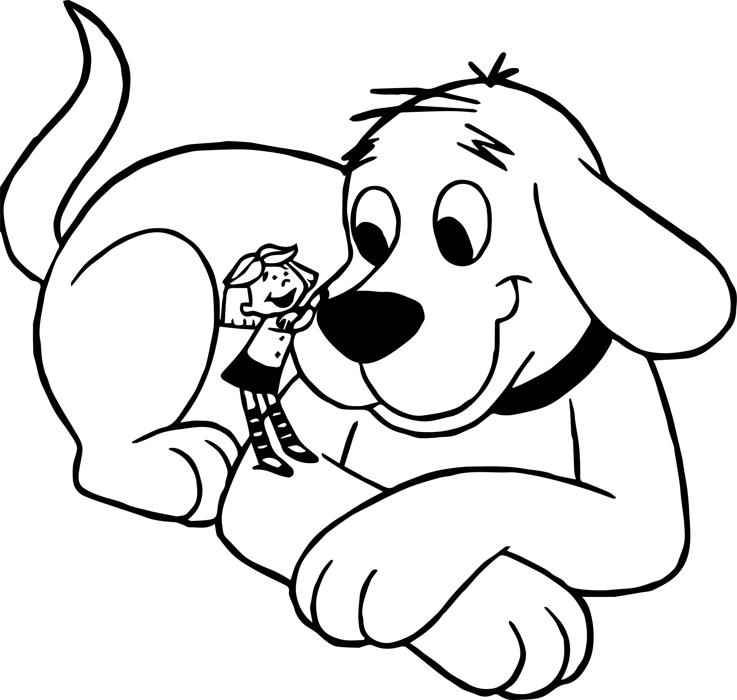 Clifford The Big Red And Small Girl Dog Coloring Page