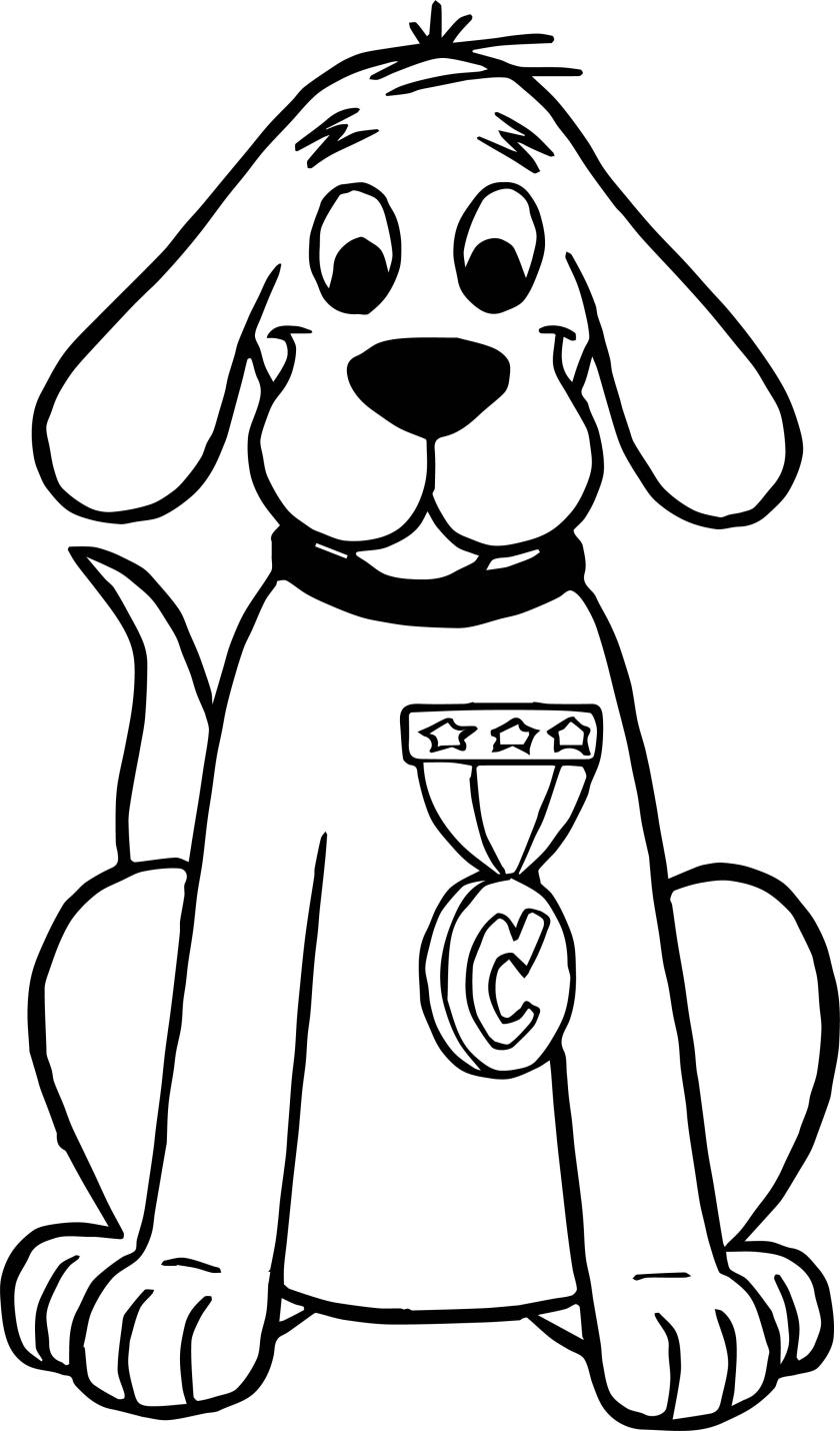 clifford the big red dog prize coloring page