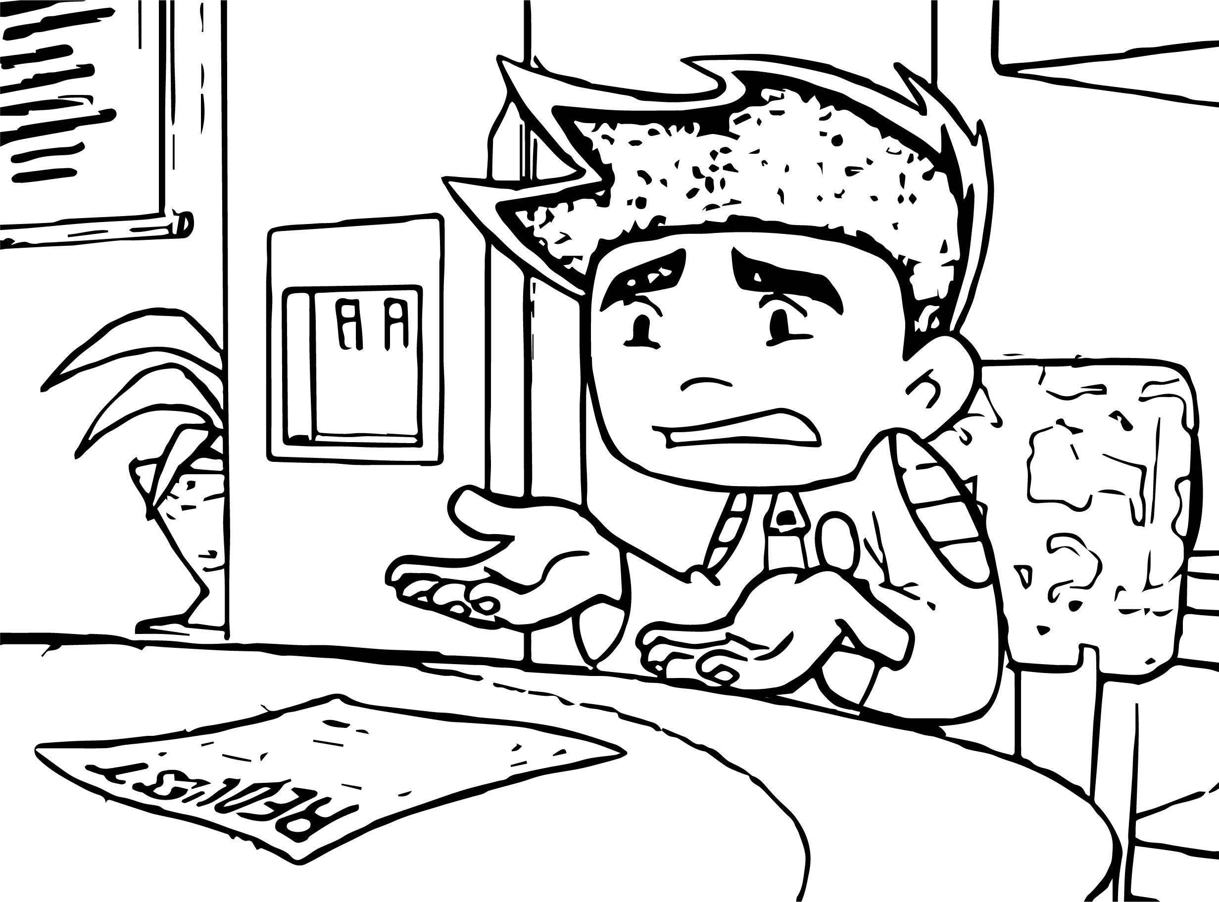 Jake Confused American Dragon Jake Long What Coloring Page