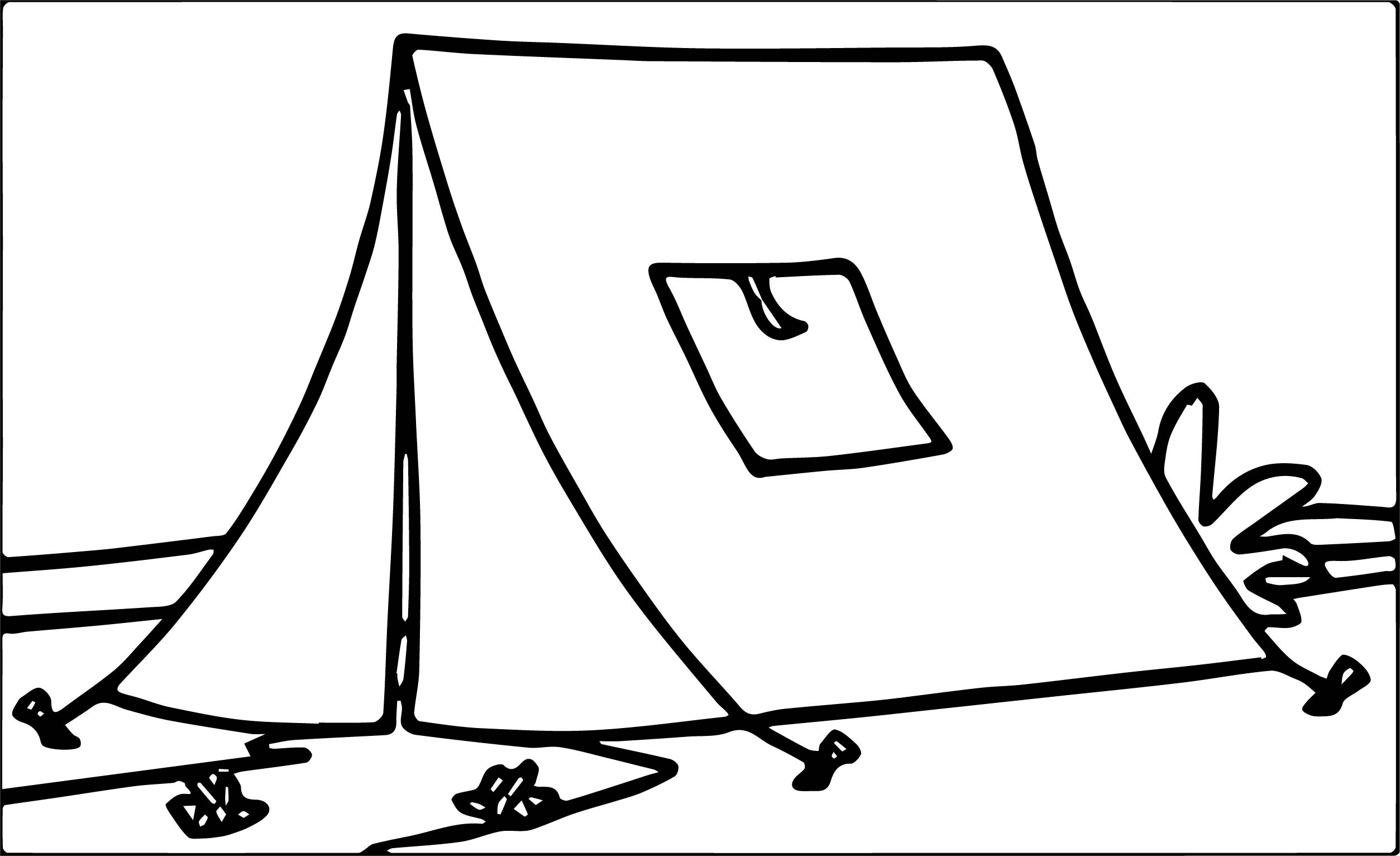 Tn Pletely Constructed Yellow Tent At C C Ing Coloring
