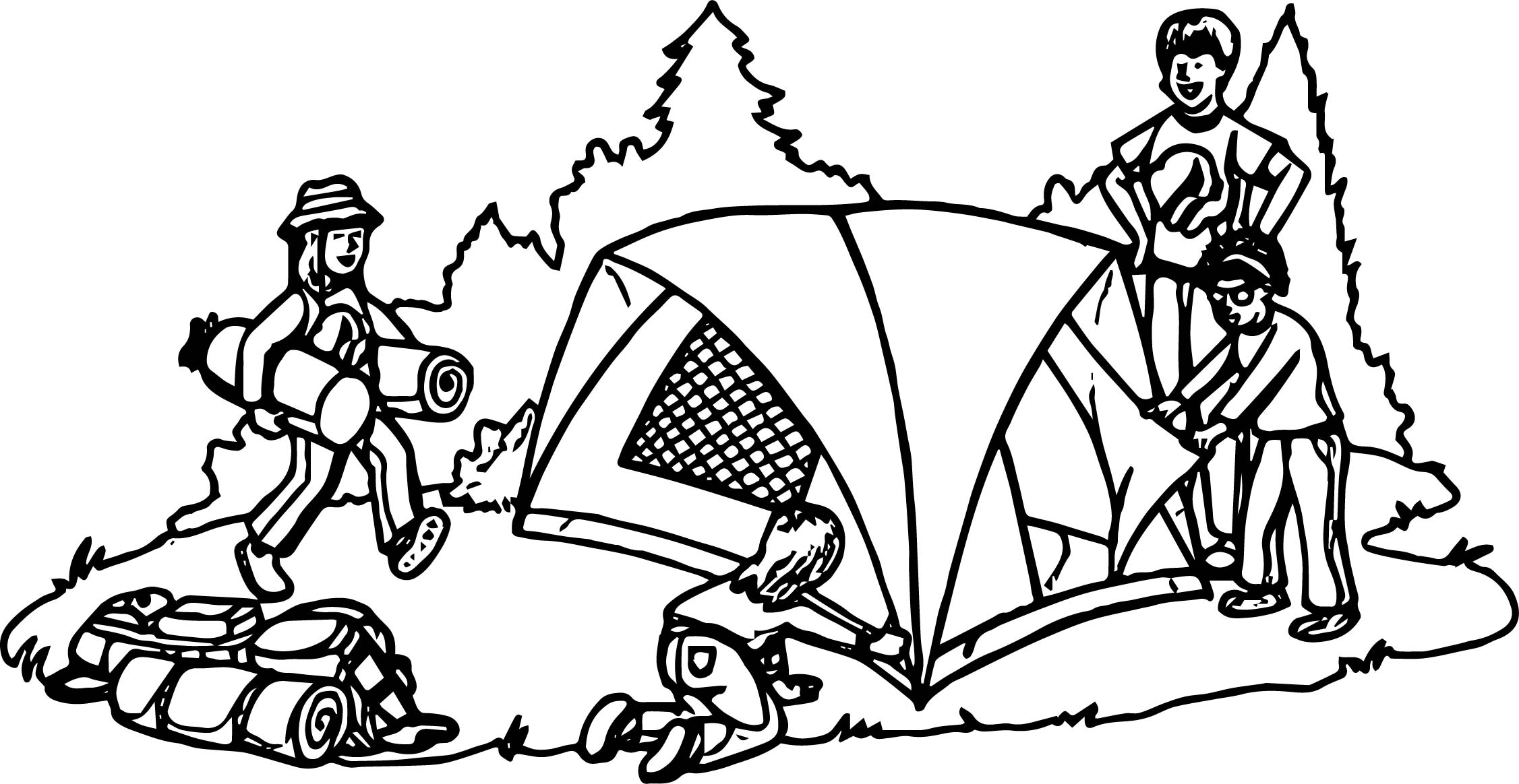 Campfire Tent Coloring Pages Coloring Pages