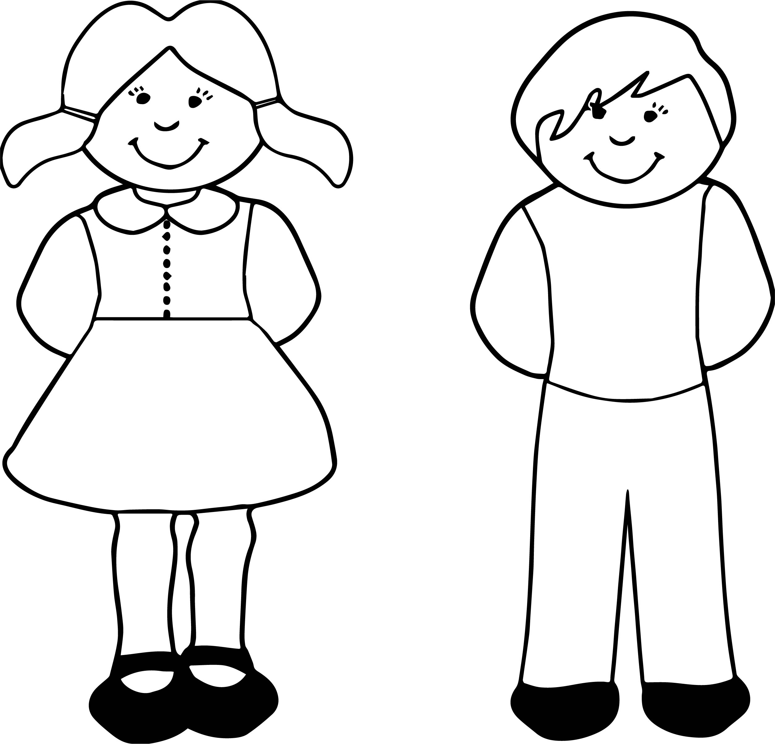 Boy Girl Coloring Page