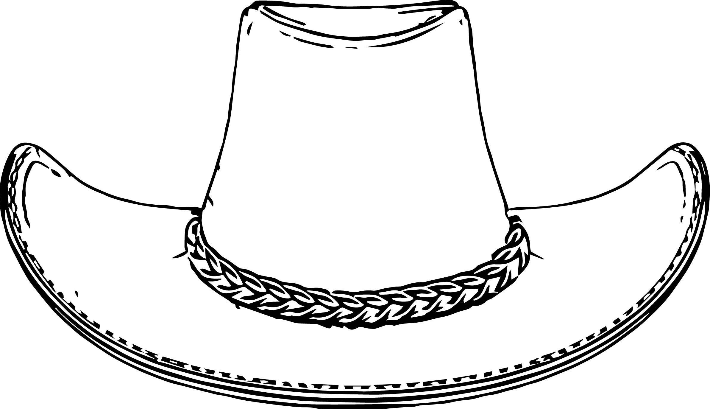 Cowboy Hat Coloring Pages