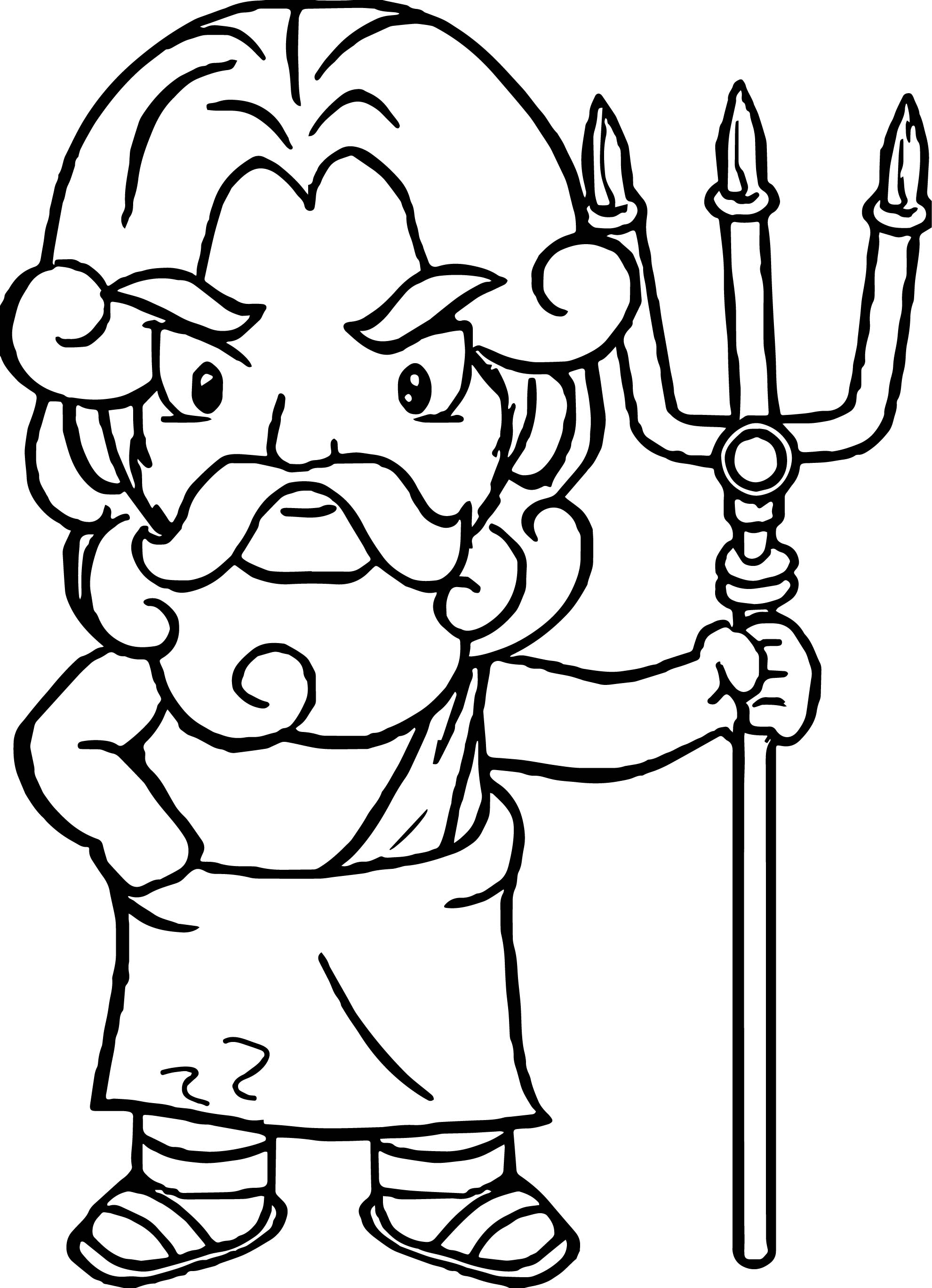 Greece God Coloring Page