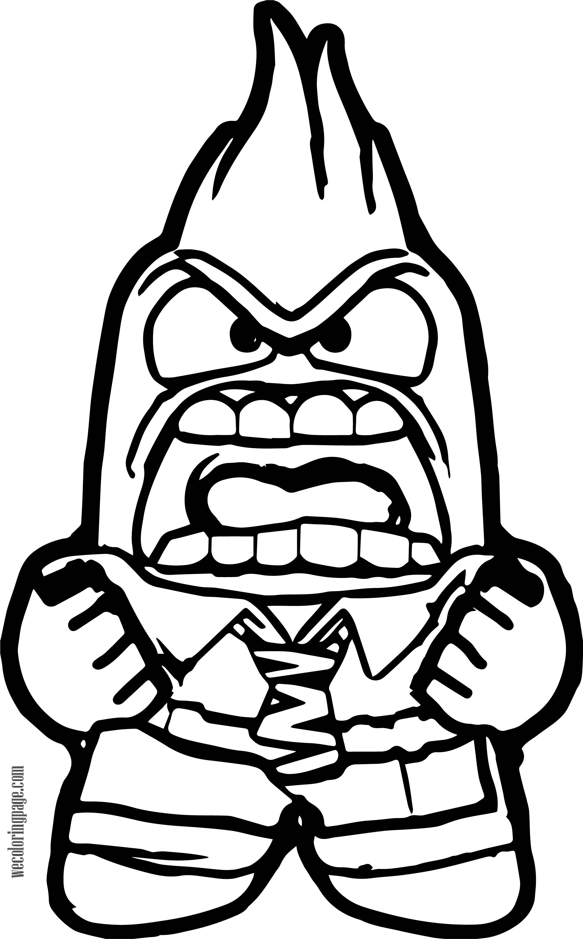 Inside Out Anger Fire Coloring Page