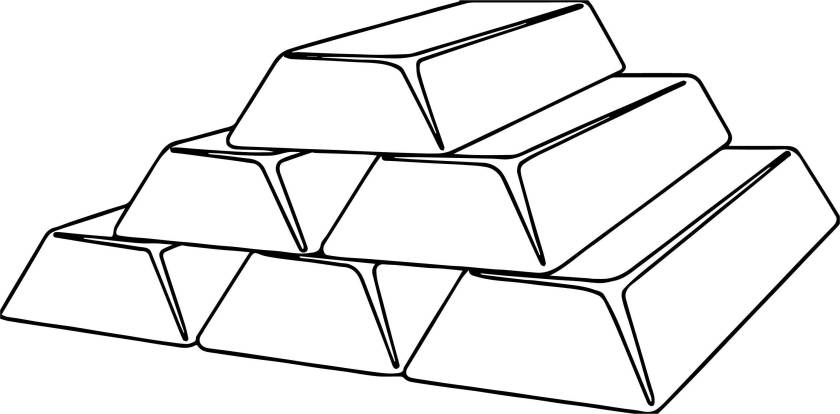 bars of gold money coloring page  wecoloringpage
