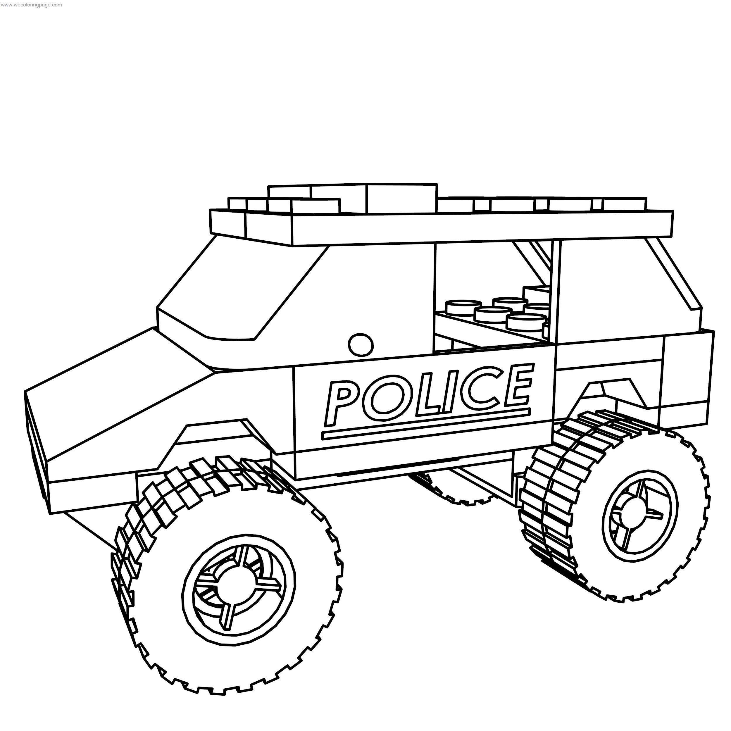 Police Car Coloring Pages - GetColoringPages.com | 2500x2500