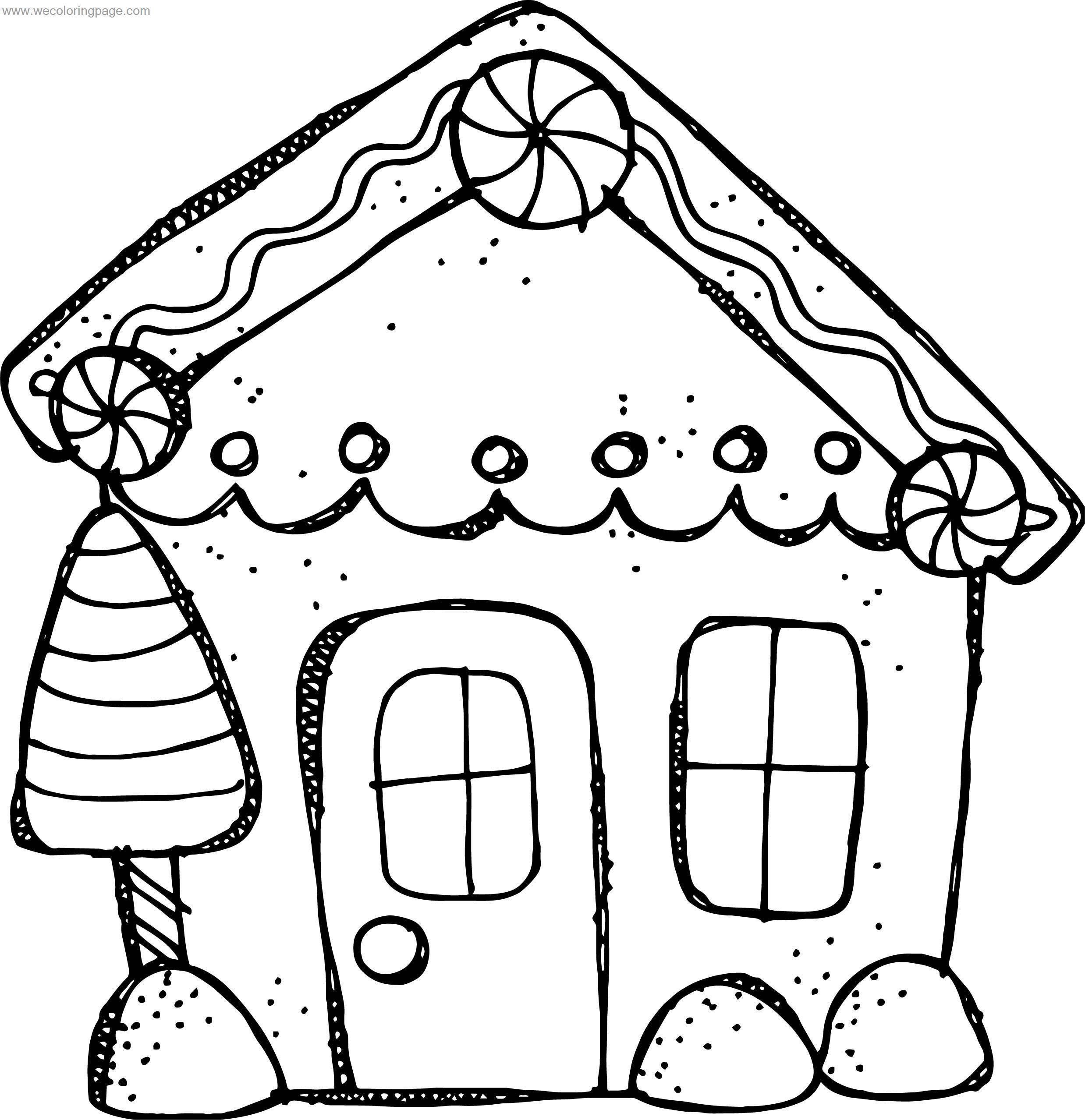 Preschool Gingerbread House Coloring Page