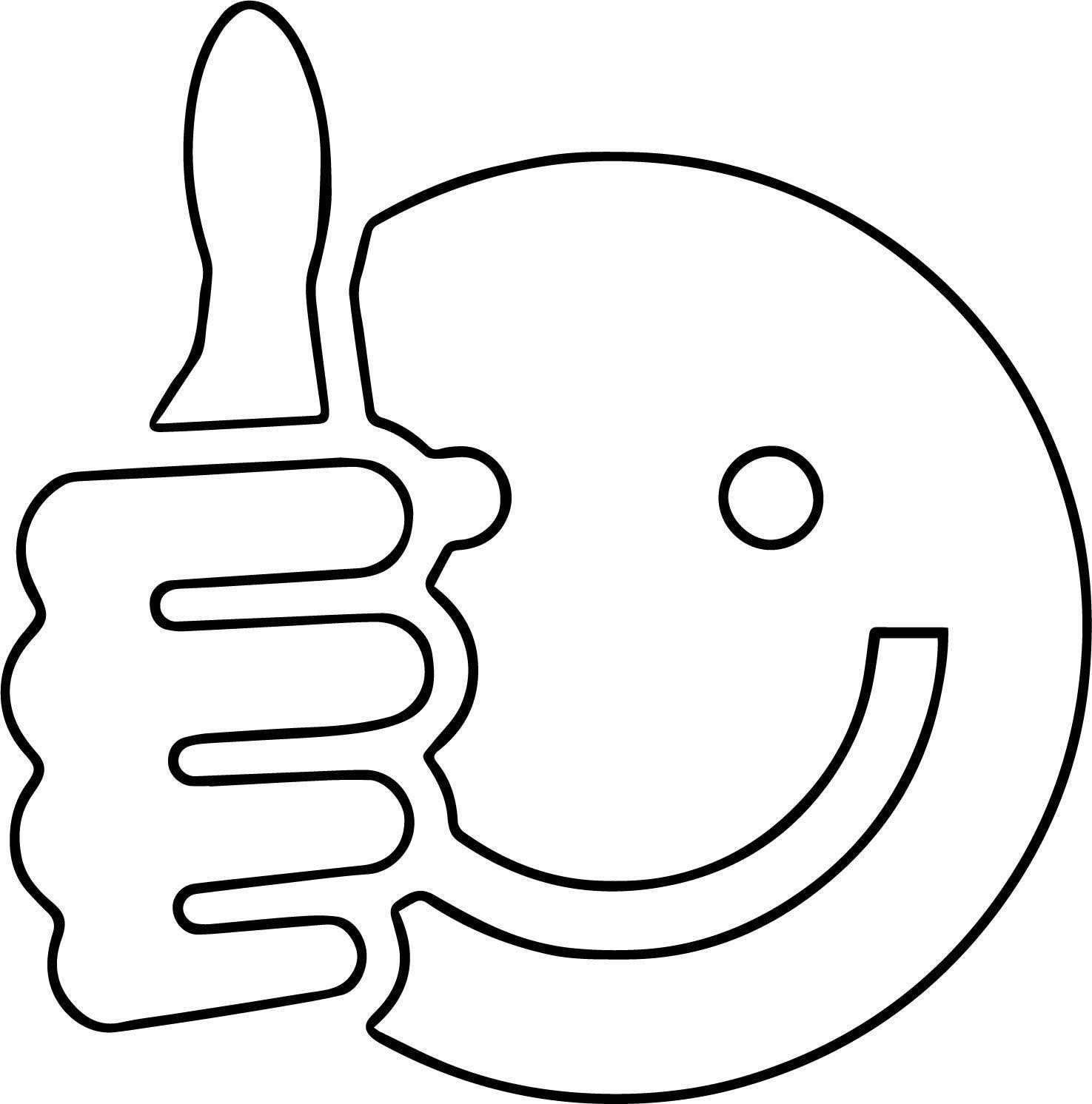 Smiley Face Clip Art Thumbs Up Free Images Coloring Page