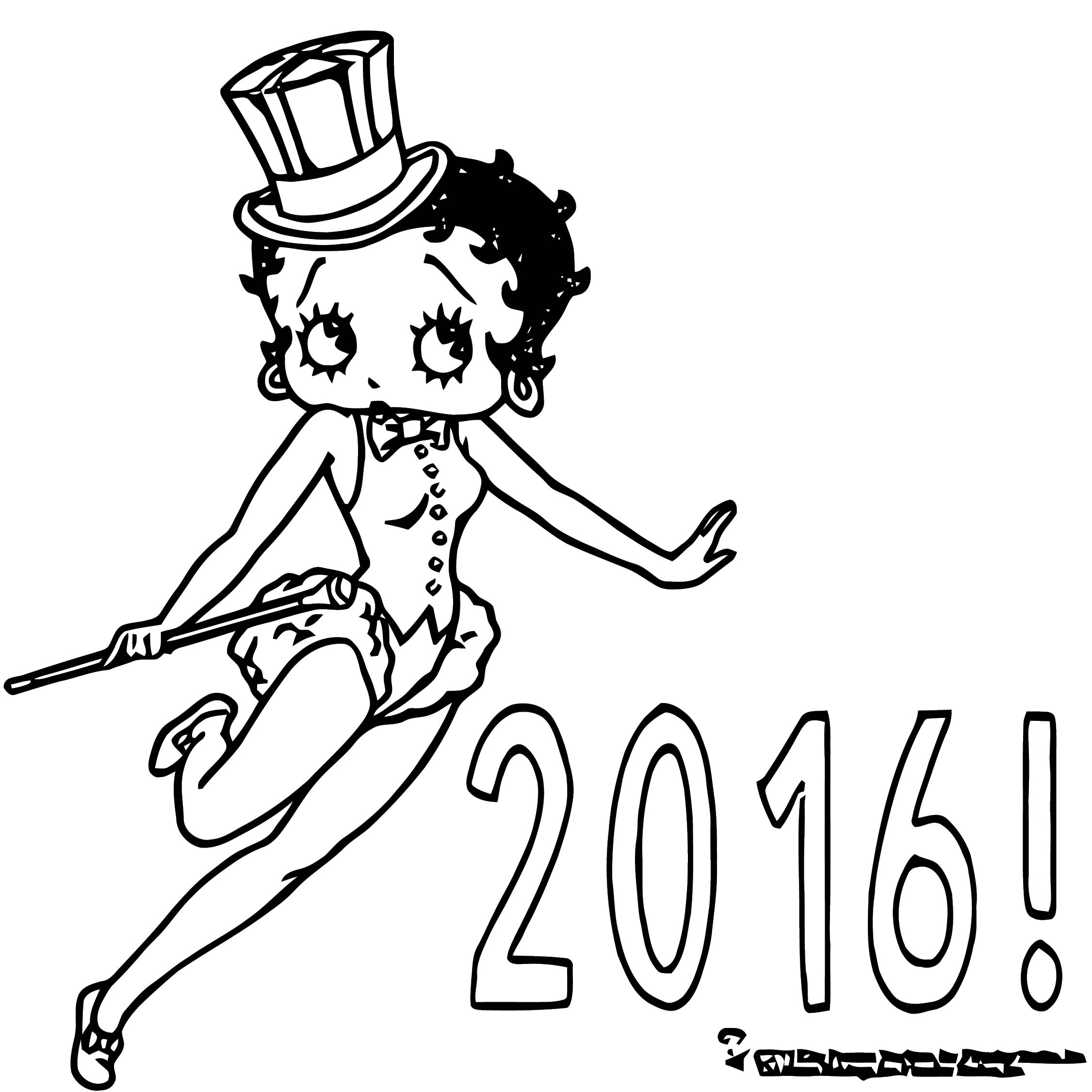Betty Boop We Coloring Page 323