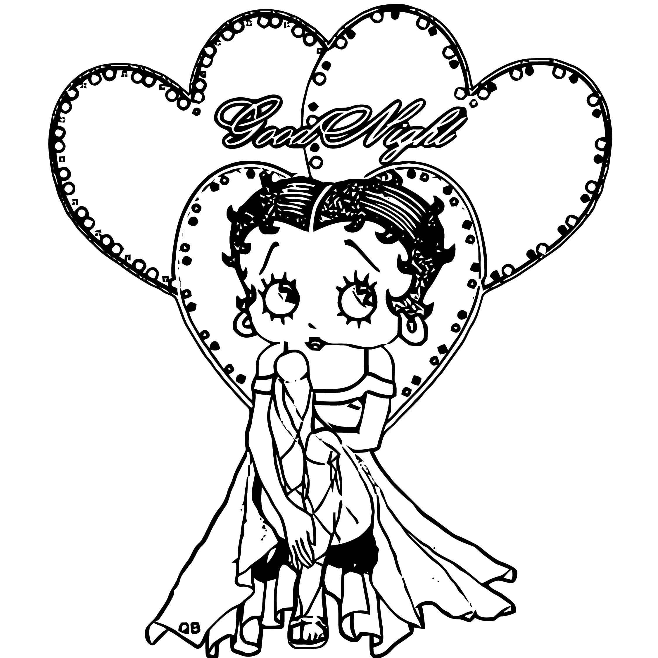 Betty Boop We Coloring Page 324