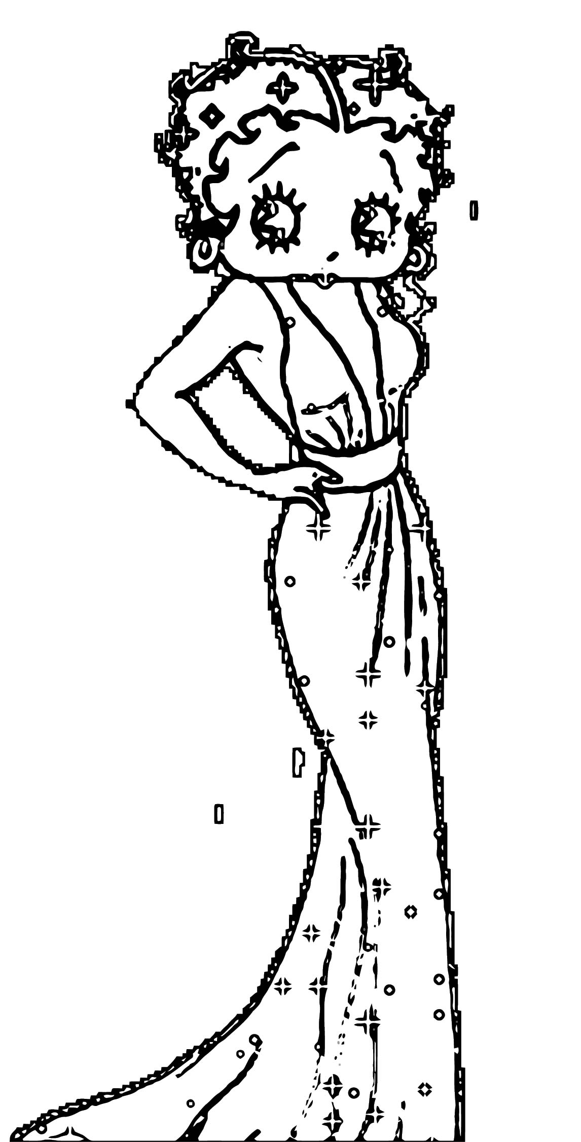 Betty Boop We Coloring Page 372