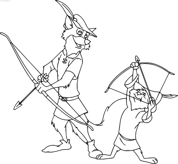 robin hood coloring pages # 50