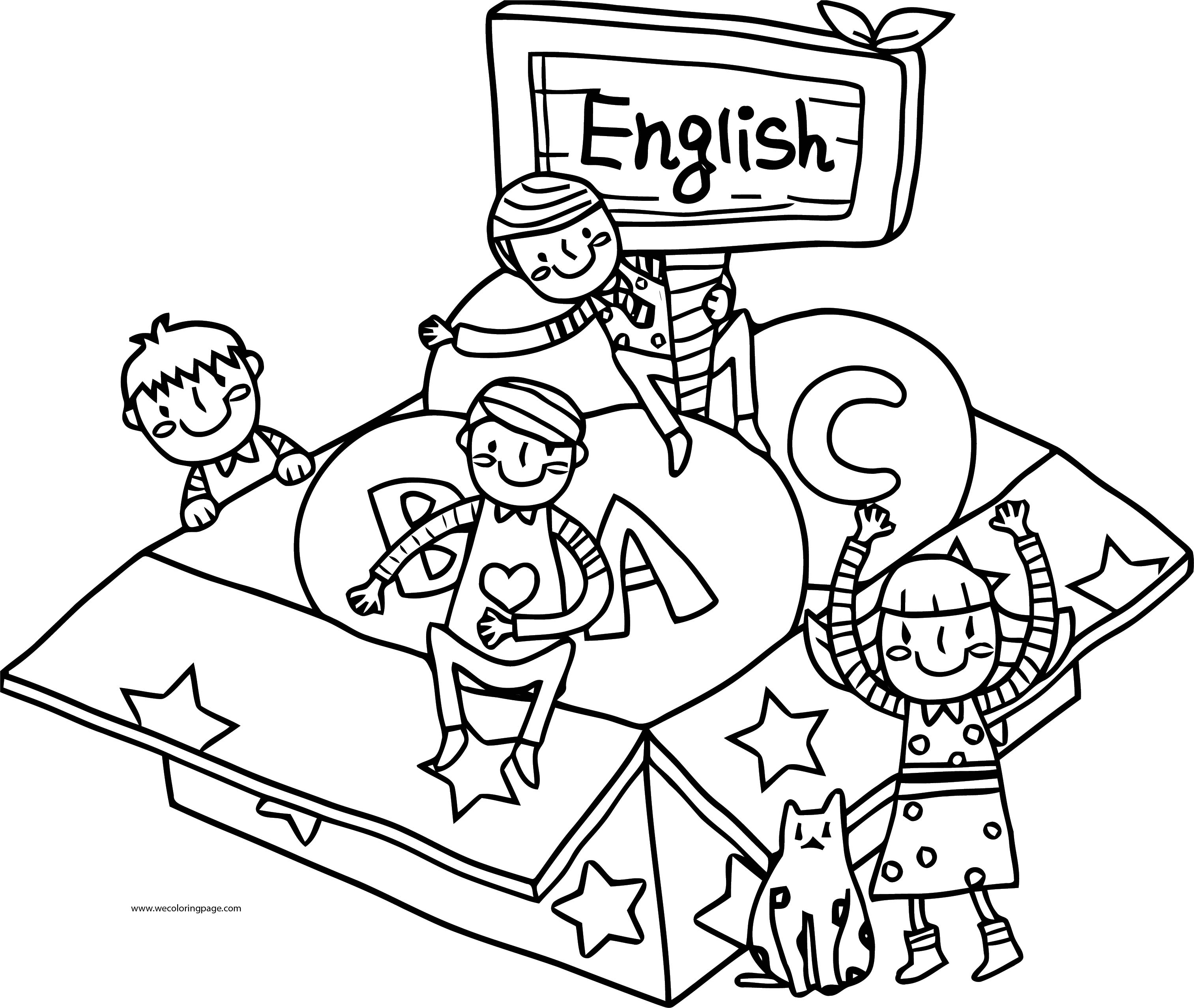 English Teacher We Coloring Page 060