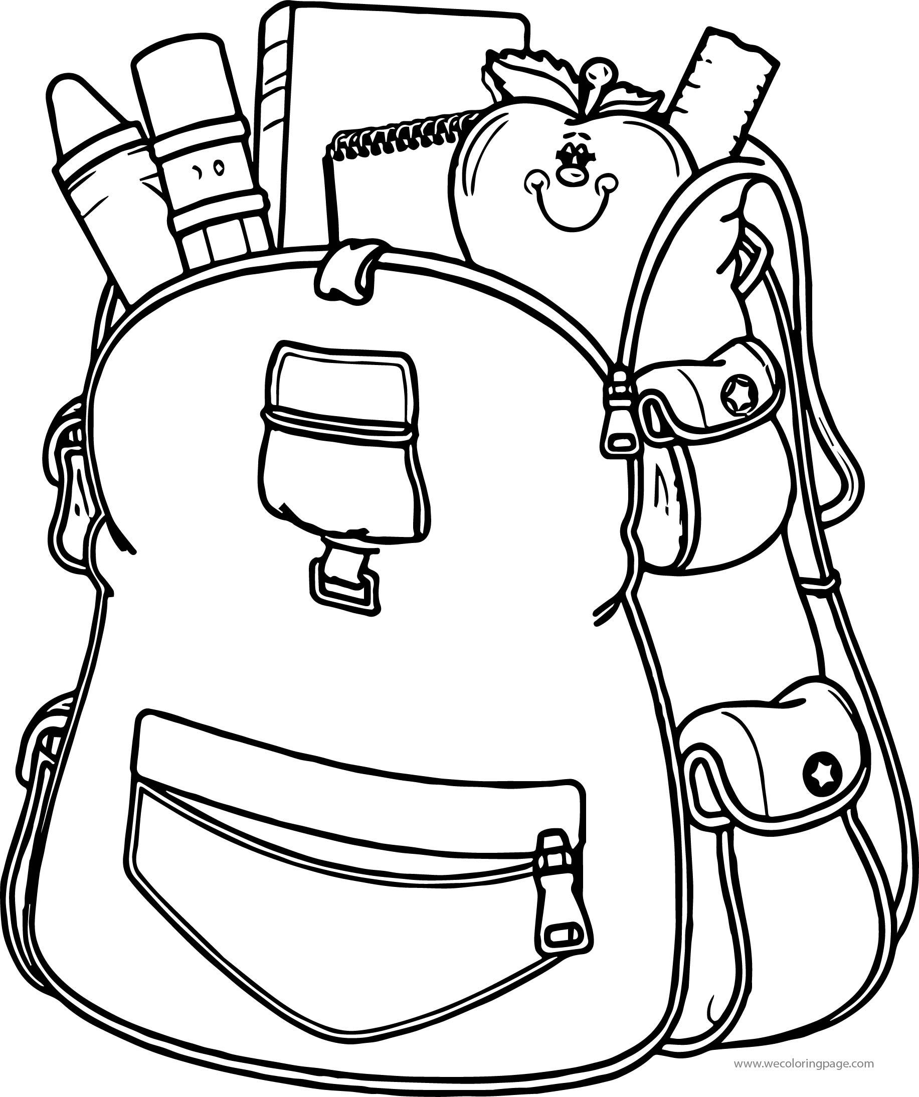I School Bag Coloring Page