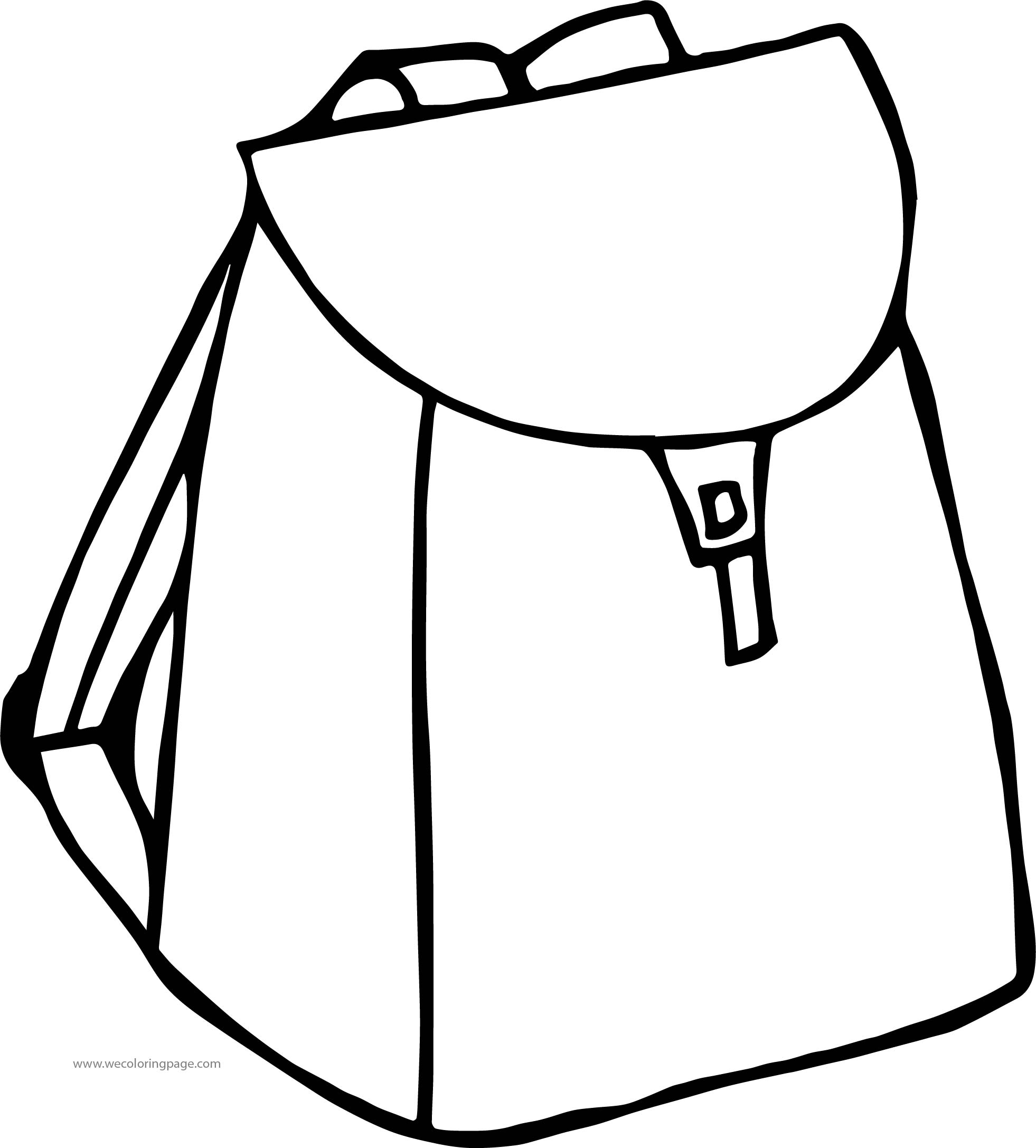 In School Bag Coloring Page