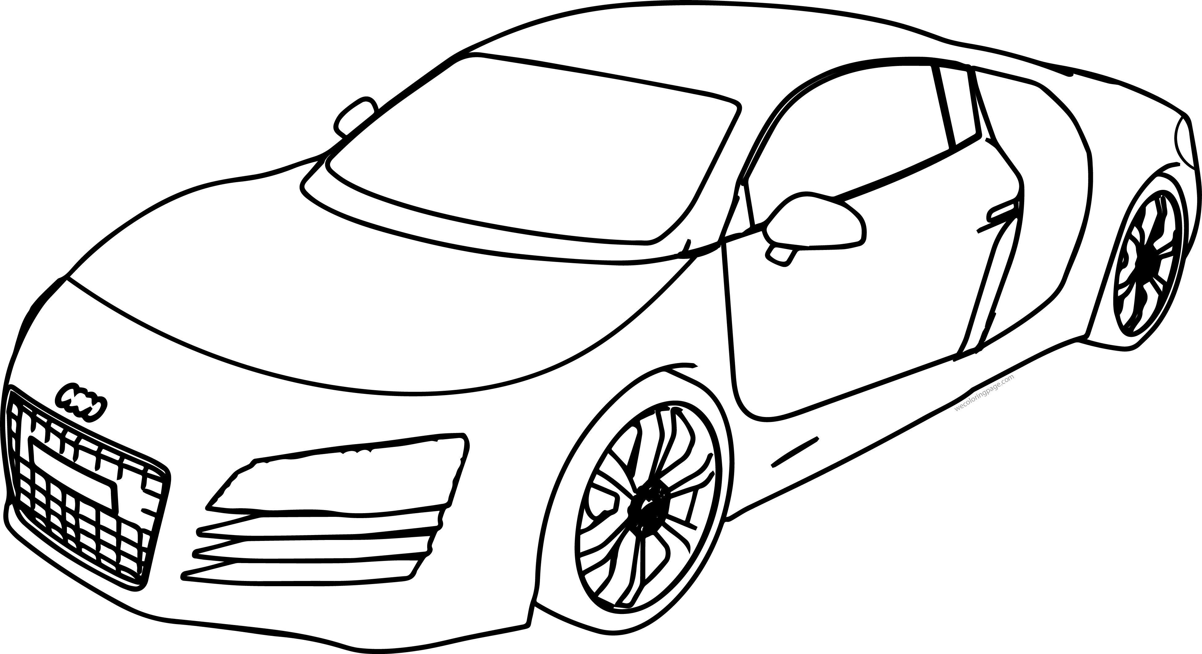 Audi R8 Bold Line Coloring Page